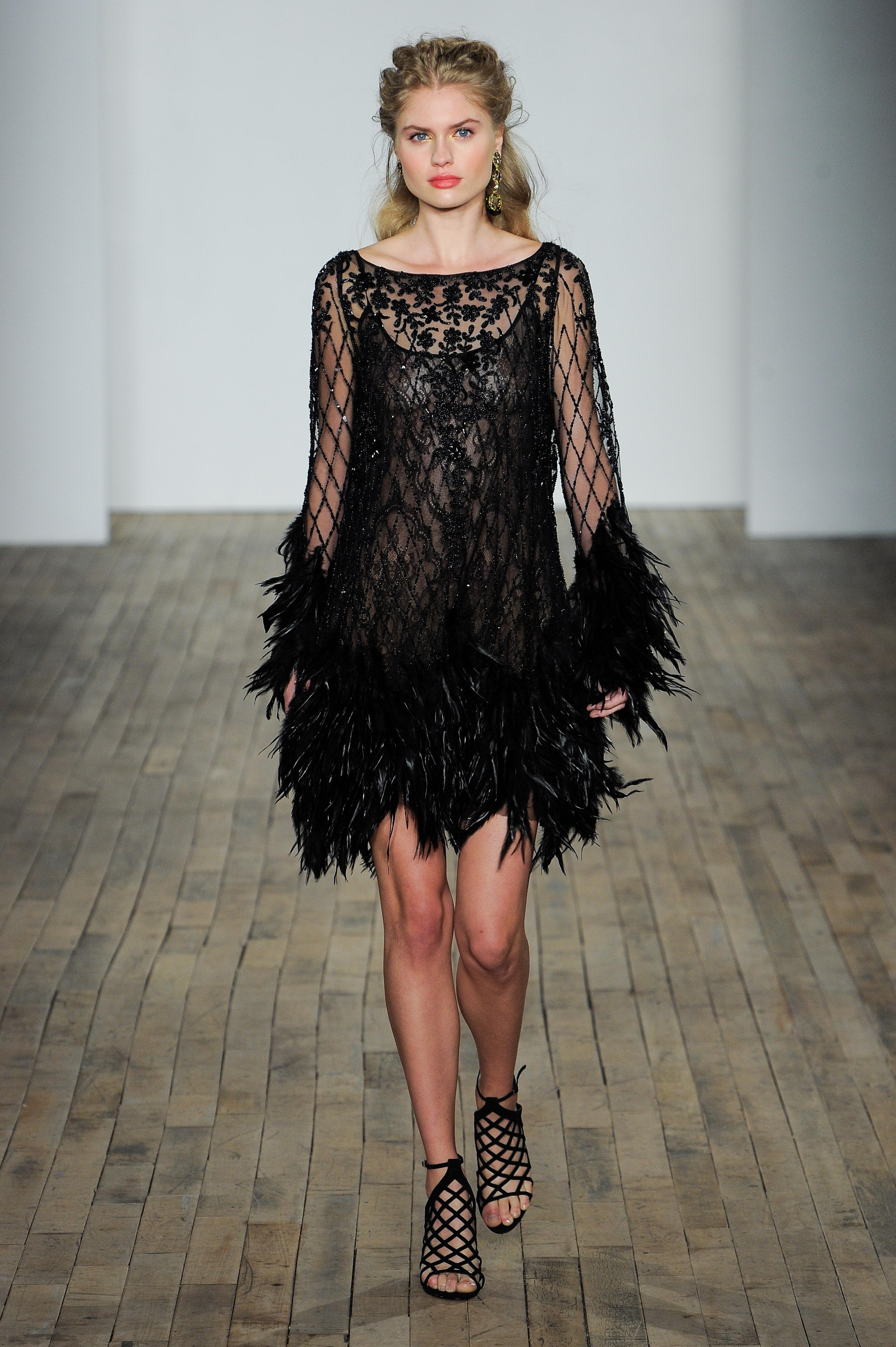 Naeem Khan embellished black wedding dress