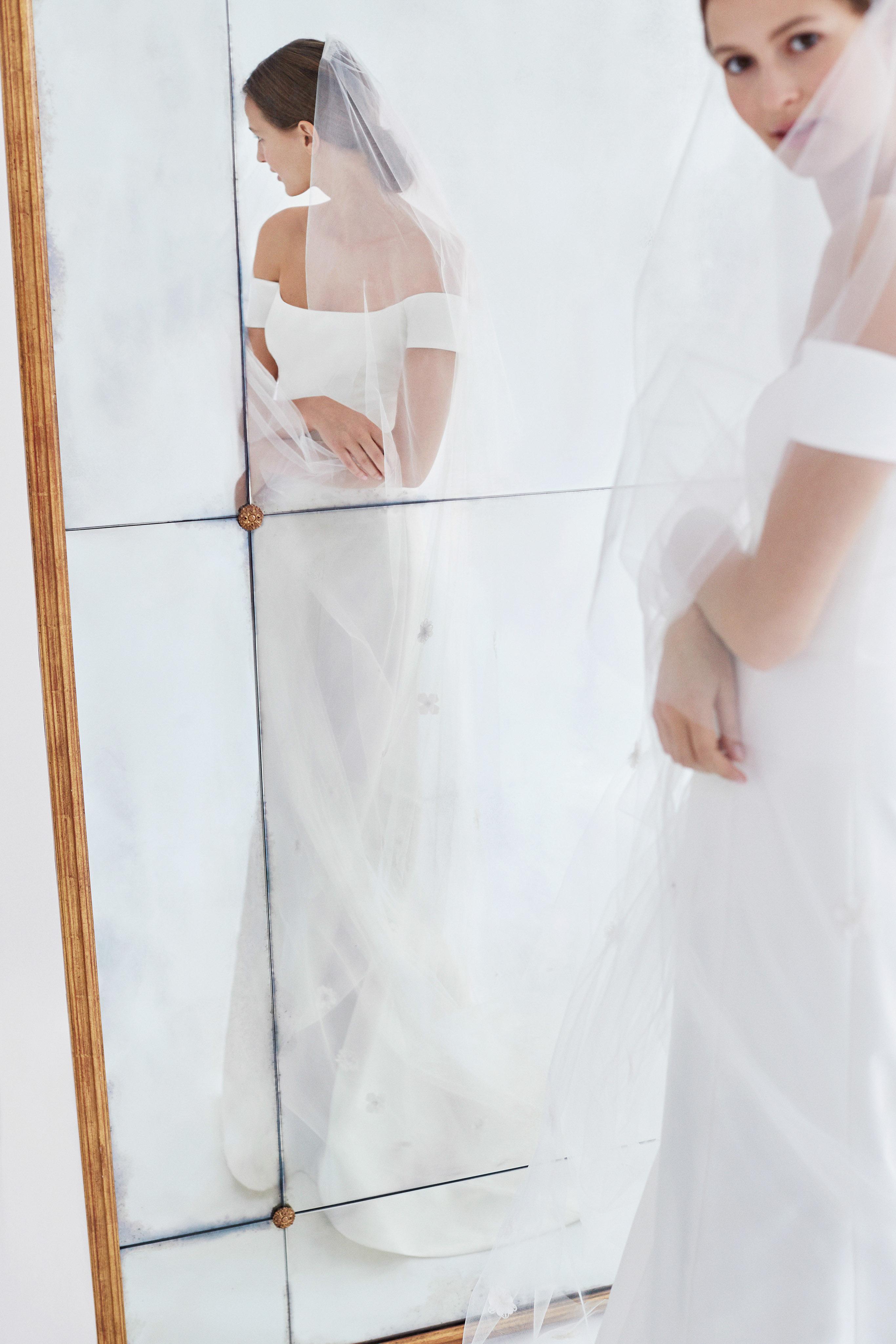 carolina herrera wedding dress fall 2018 off the shoulder