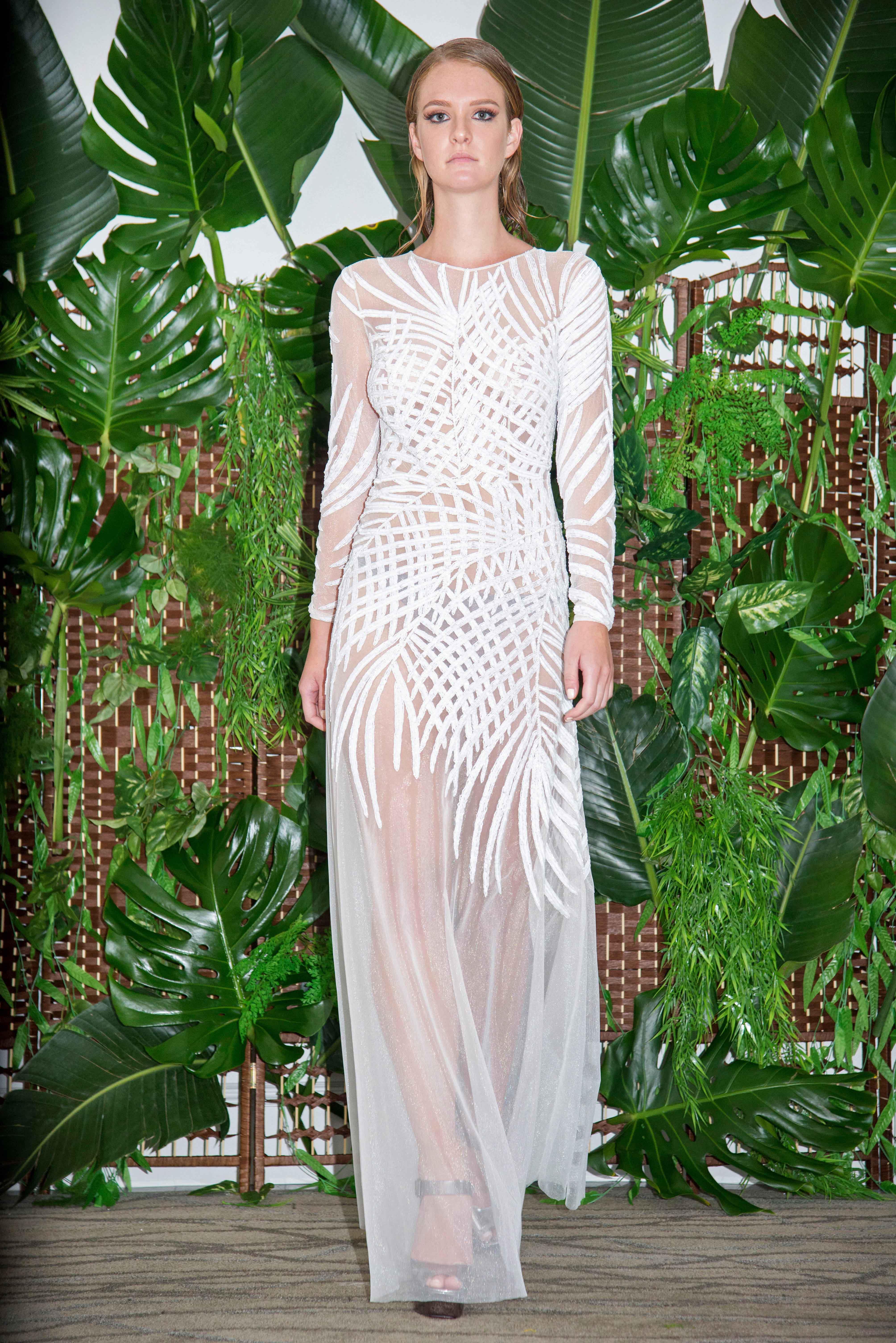 persy shear long-sleeves wedding dress fall 2018