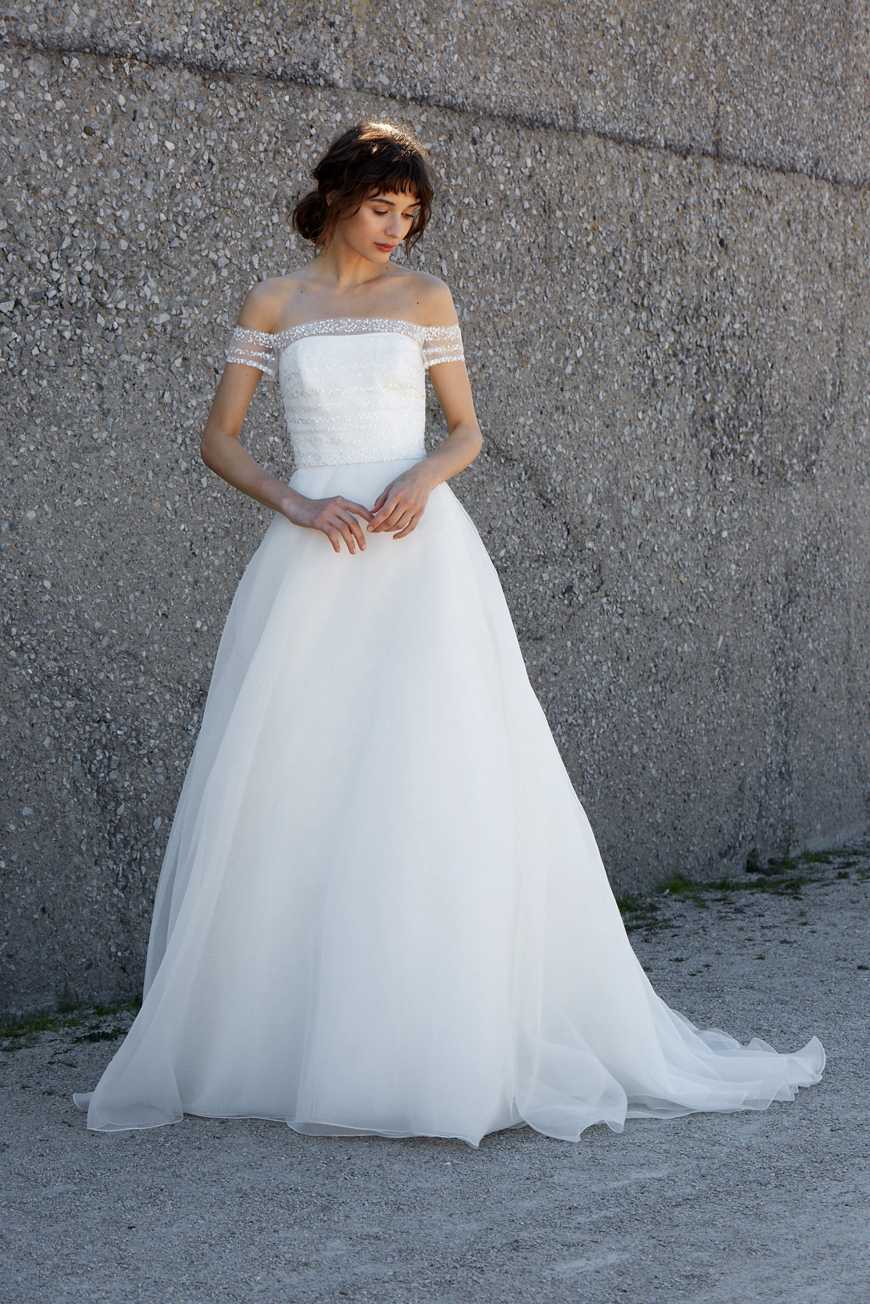 nouvelle amsale dress fall 2018 off the shoulder ball gown