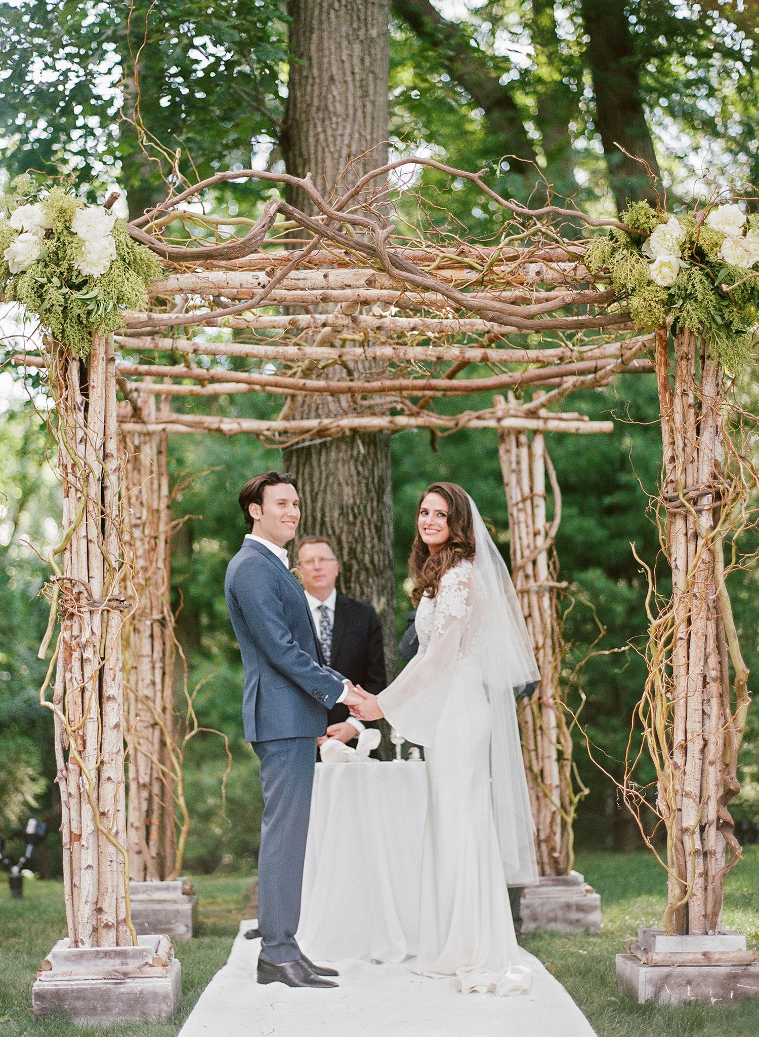 melissa michael bride and groom ceremony
