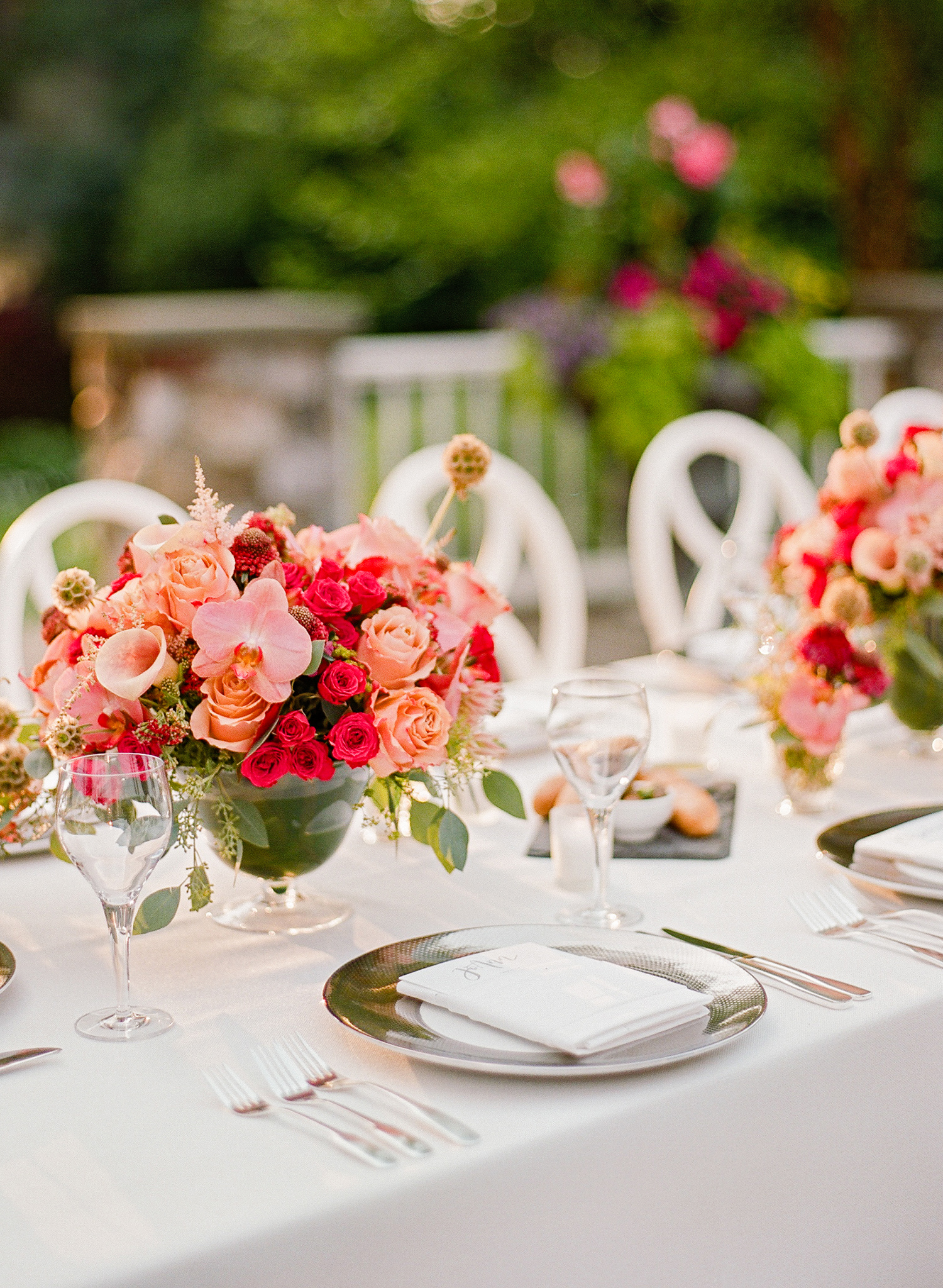 melissa michael reception table decor
