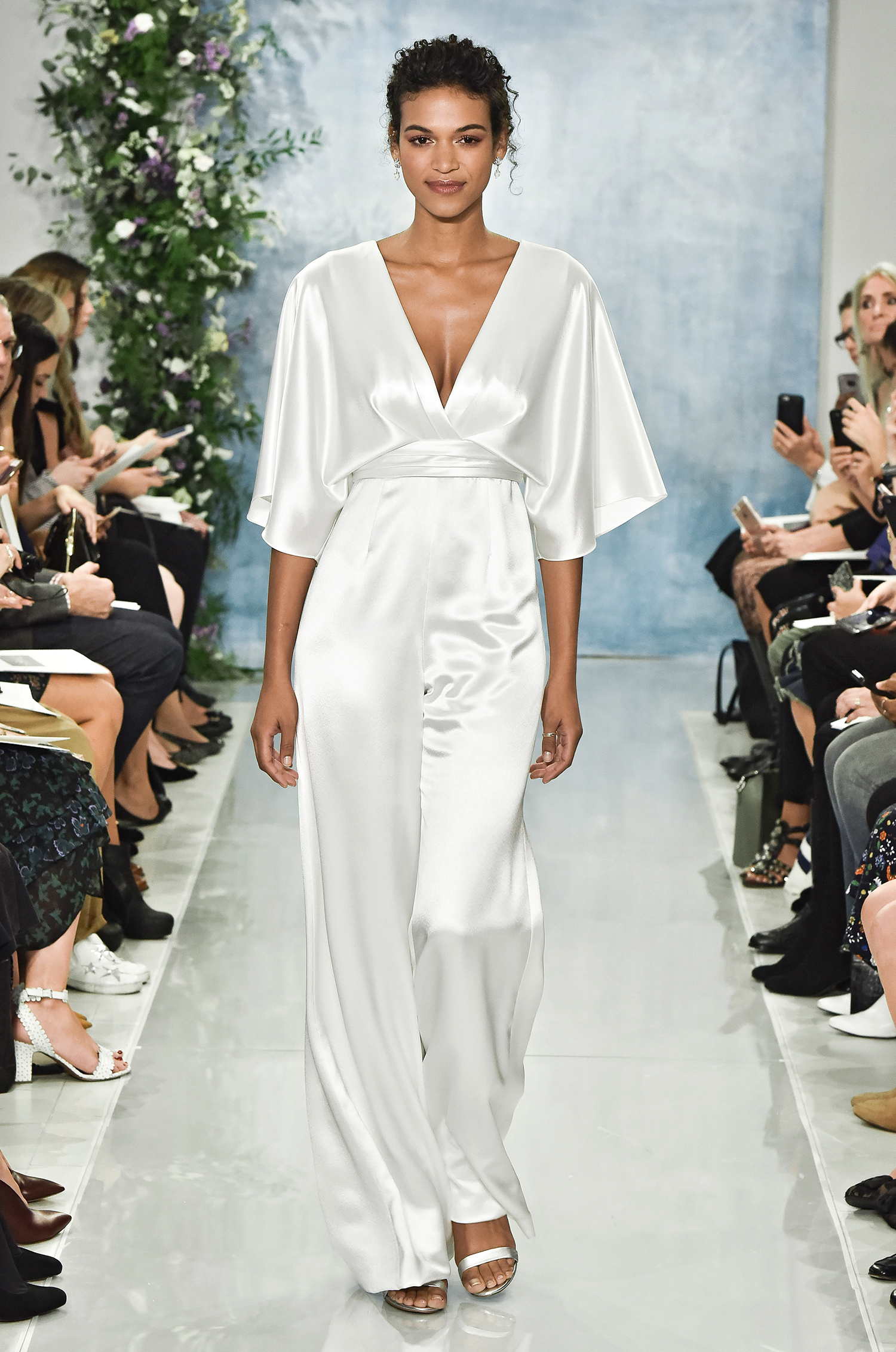 theia fall 2018 deep v-neck jumpsuit