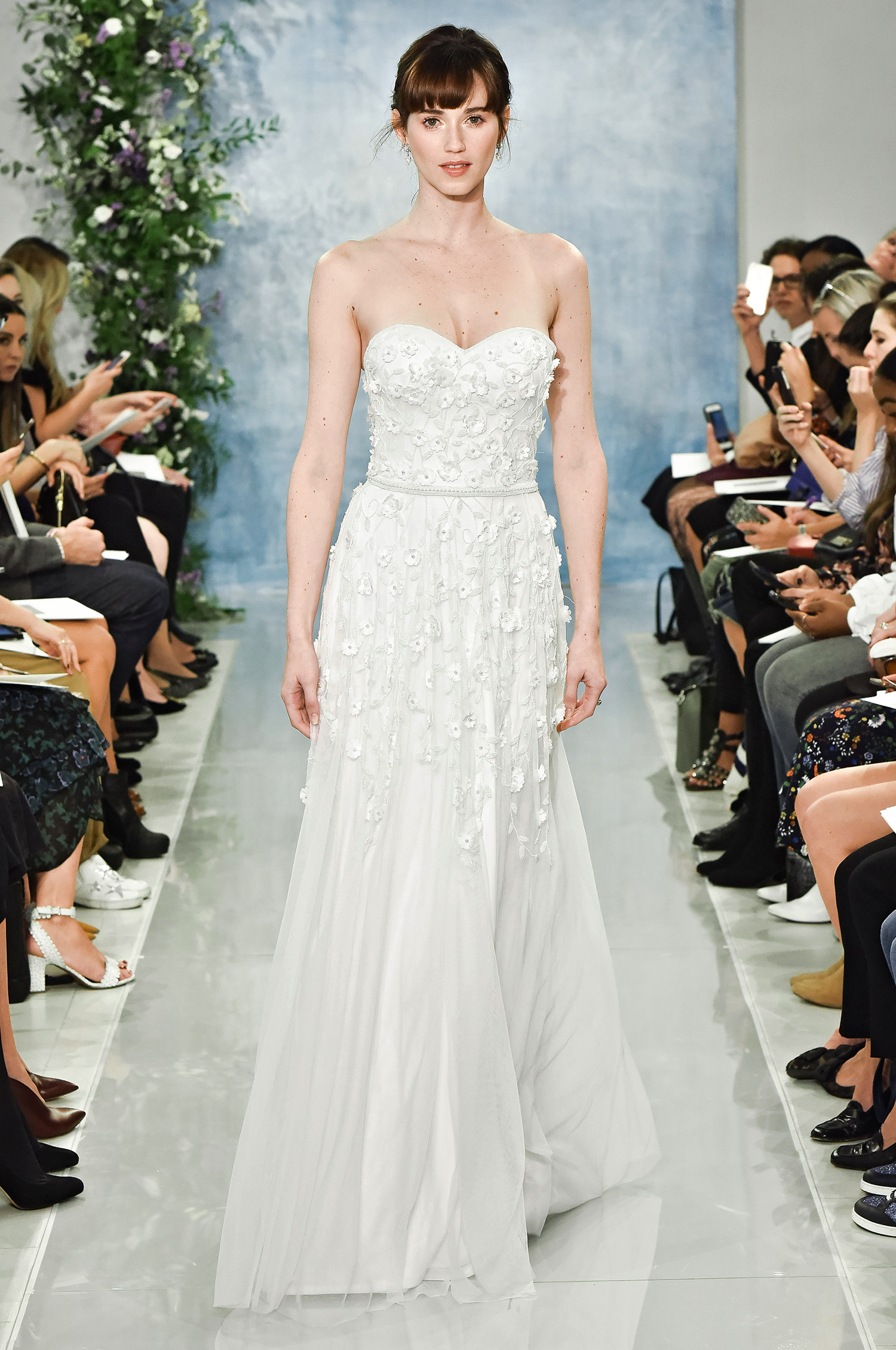 theia fall 2018 sweetheart strapless a-line