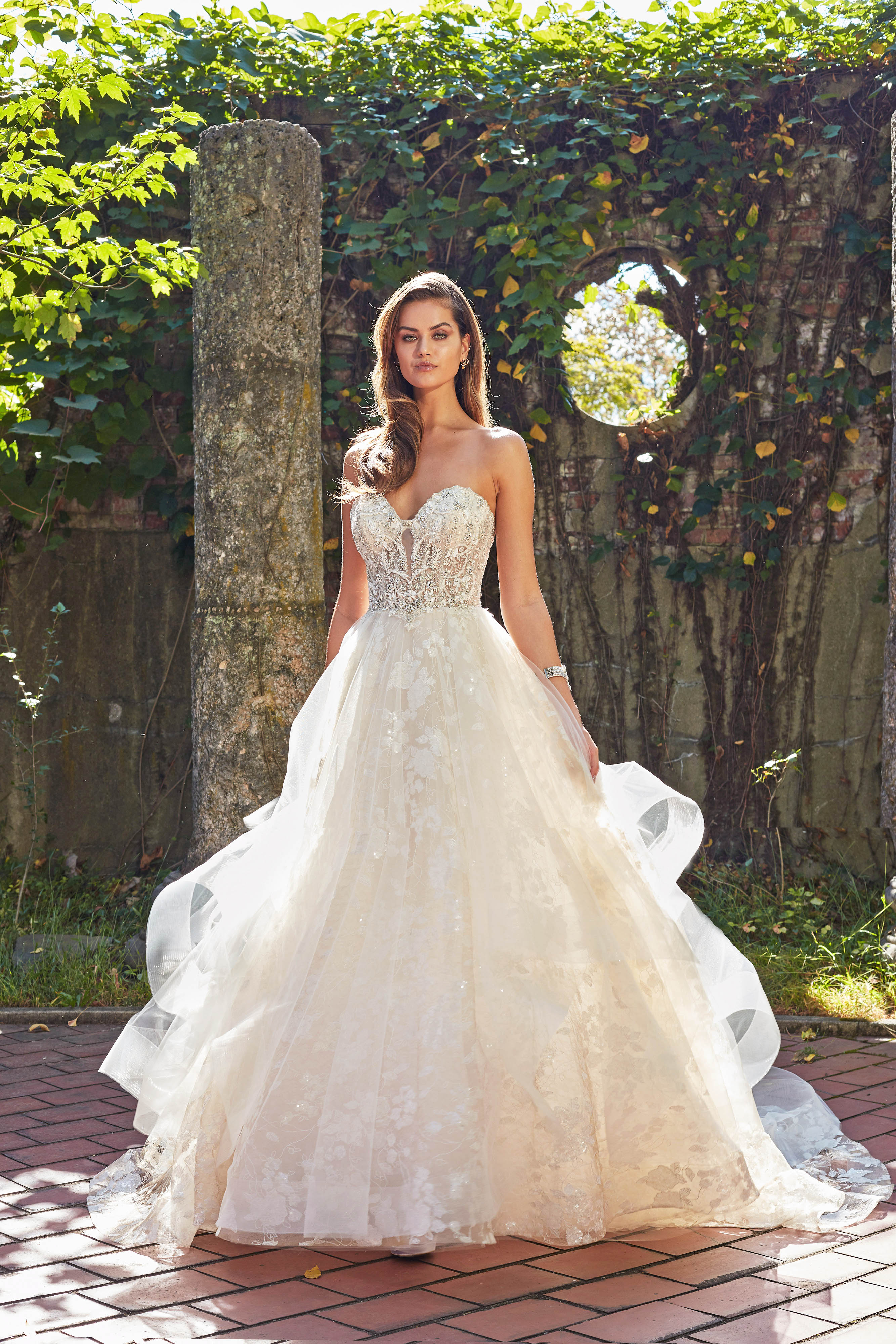 eve of milady off-the-shoulder sweetheart ball gown wedding dress fall 2018
