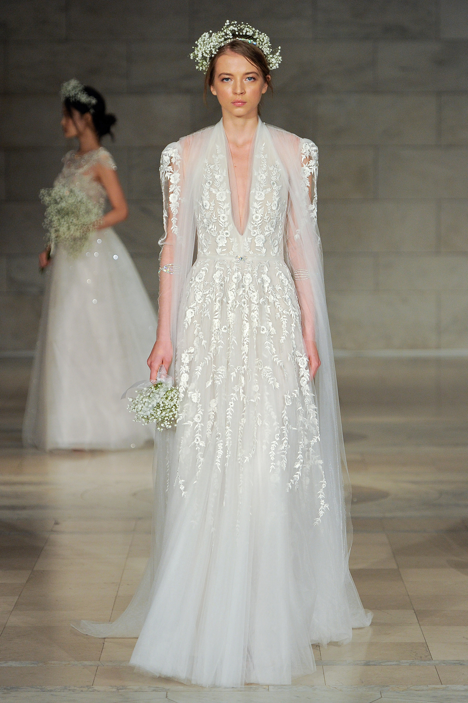 reem acra bridal market wedding dress fall 2018 halter