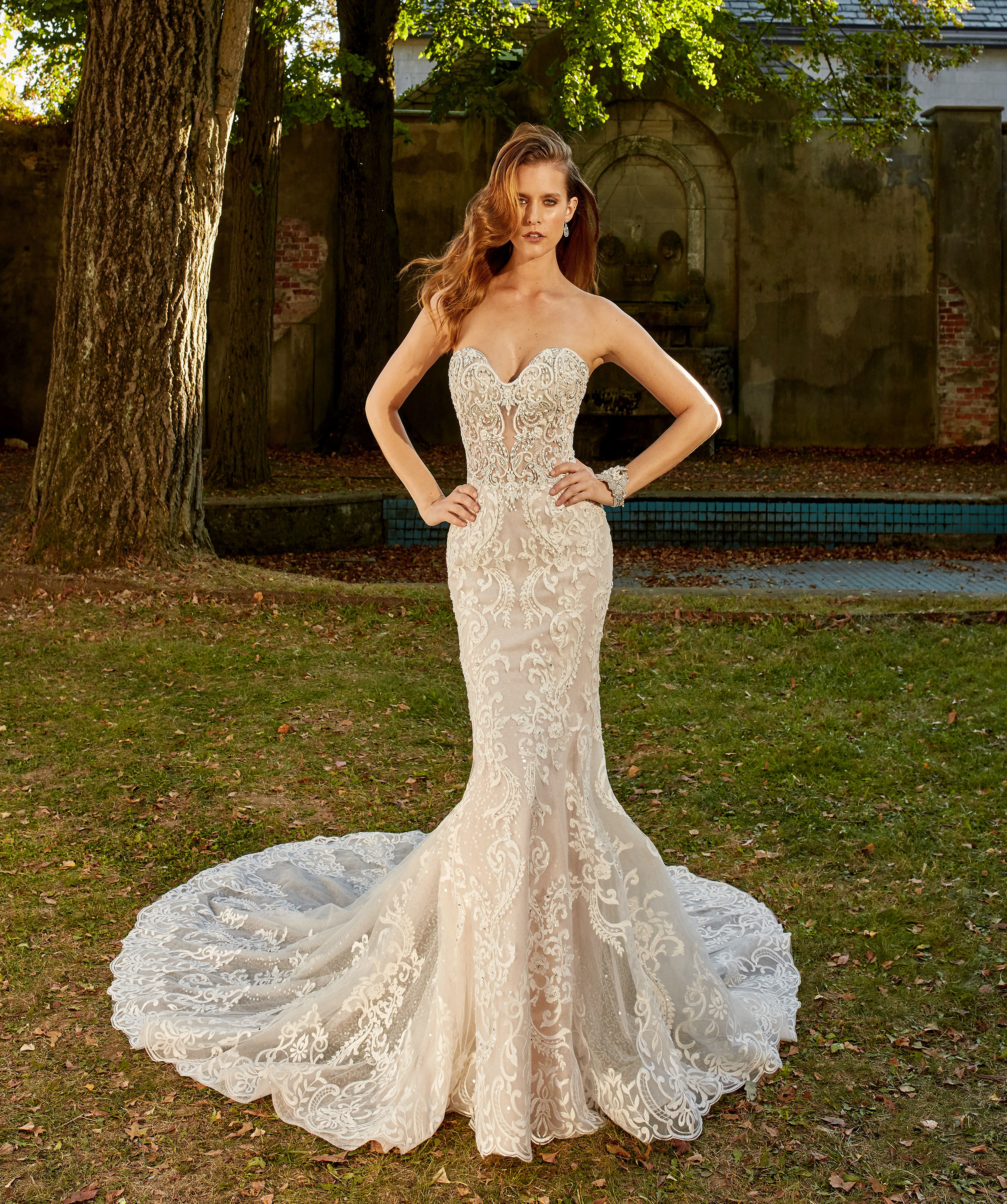 eve of milady dress fall 2018 sweetheart lace trumpet