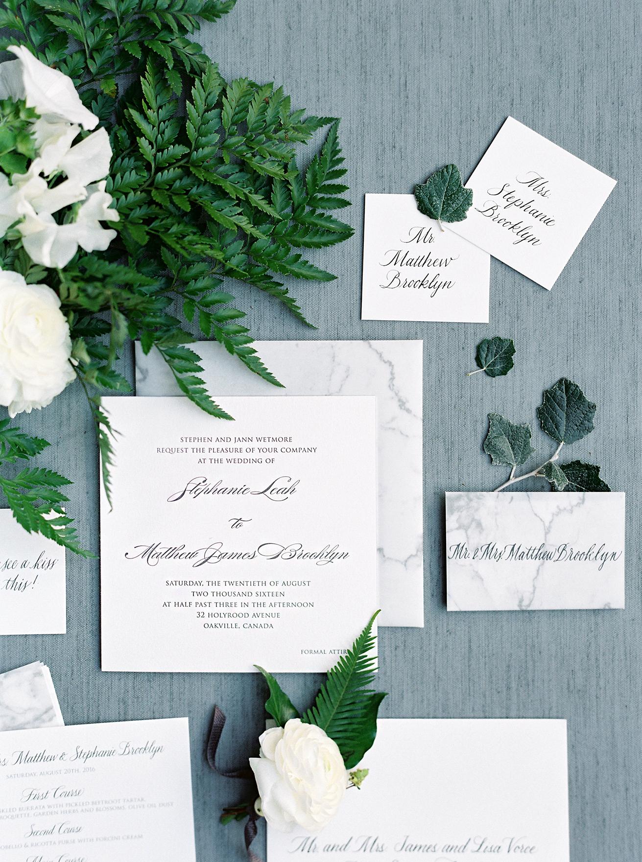 stephanie matt wedding stationery