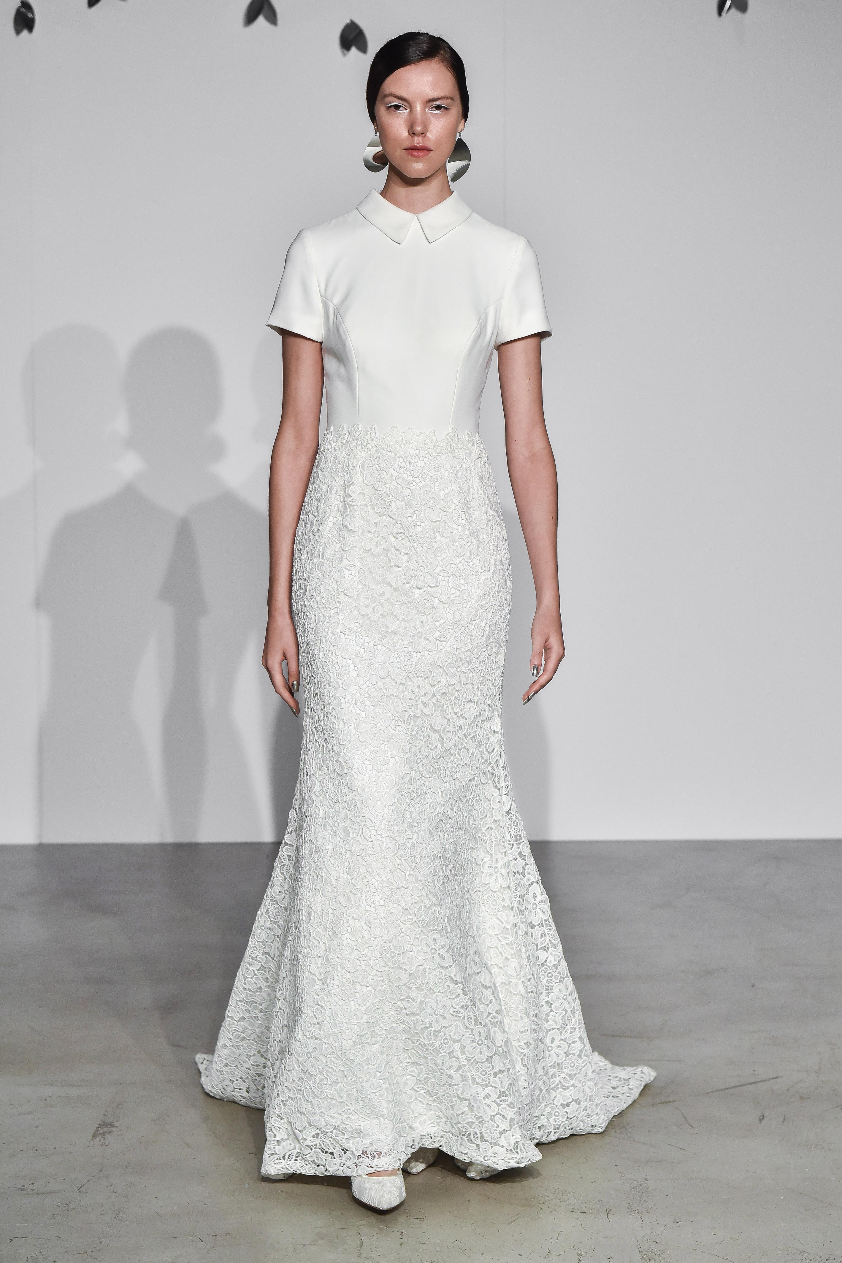 justin alexander fall 2018 cap sleeve collar wedding dress