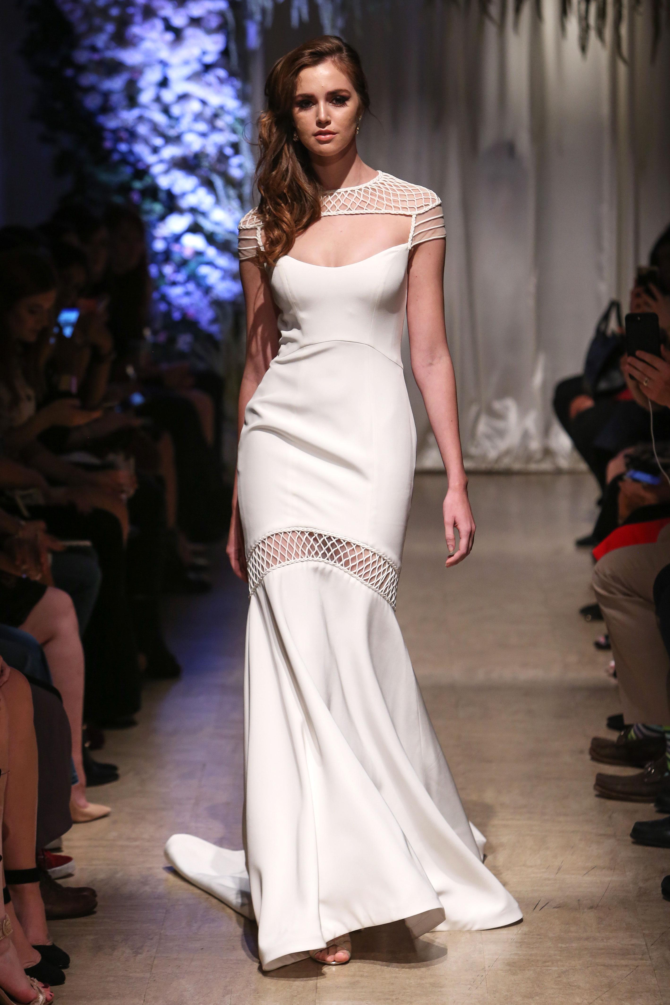 matthew christopher 2018 cutout sheath wedding dress
