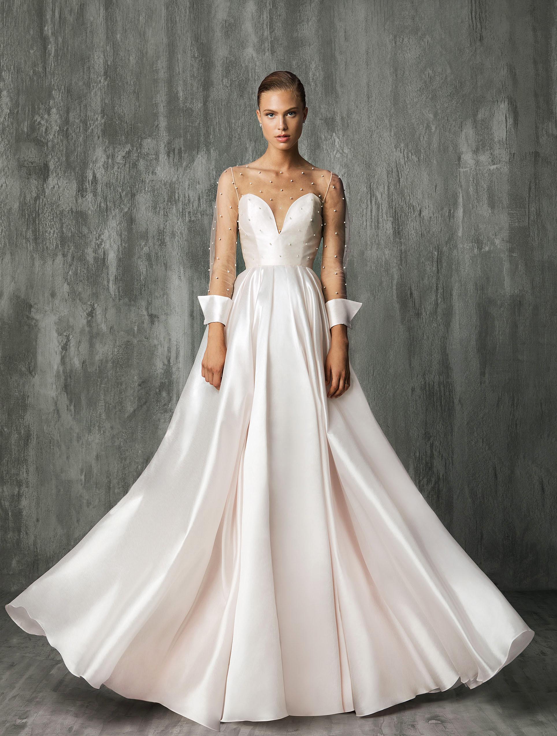 Victoria Kyriakides Pink Sweetheart Wedding Dress Fall 2018