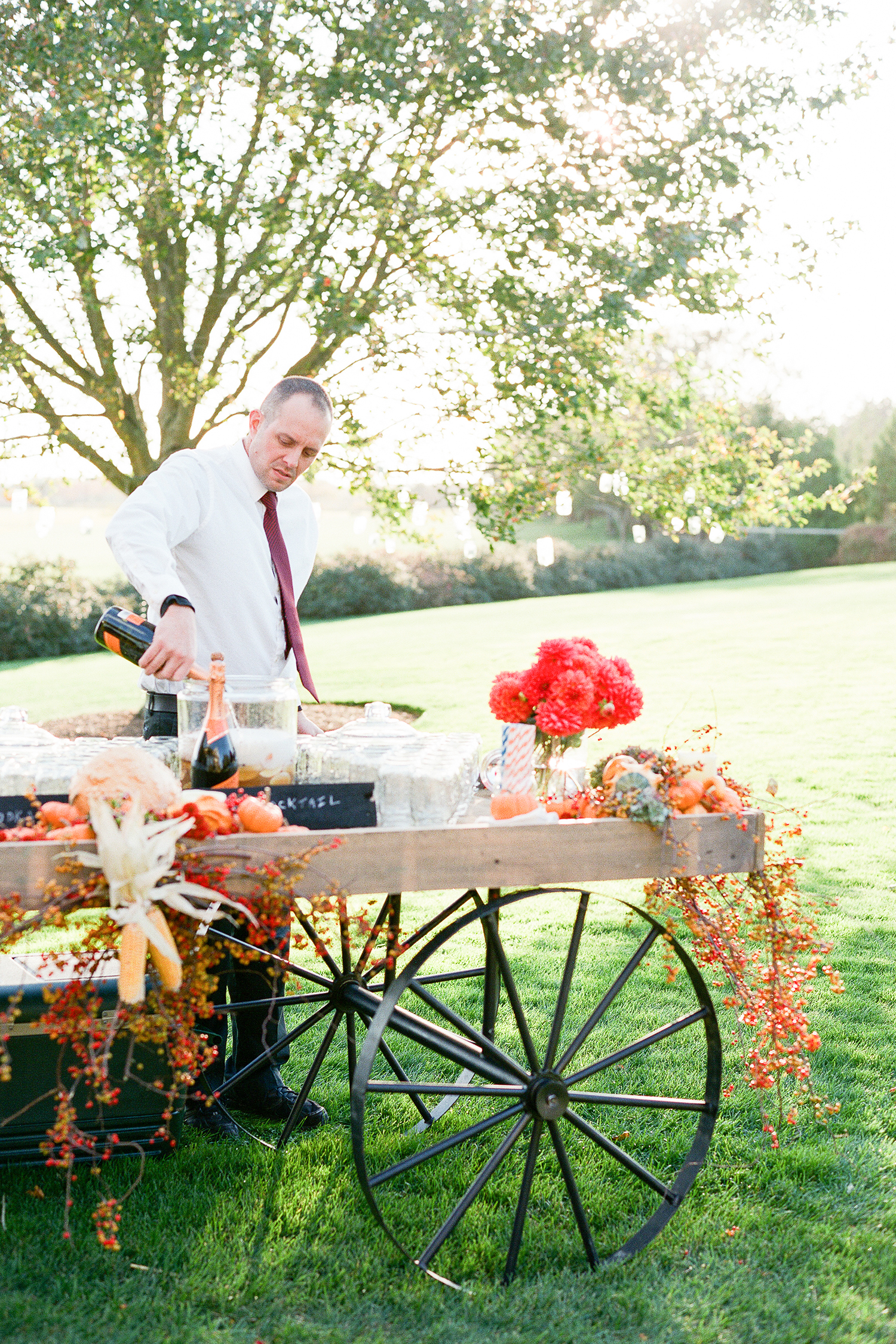 fall drink cart