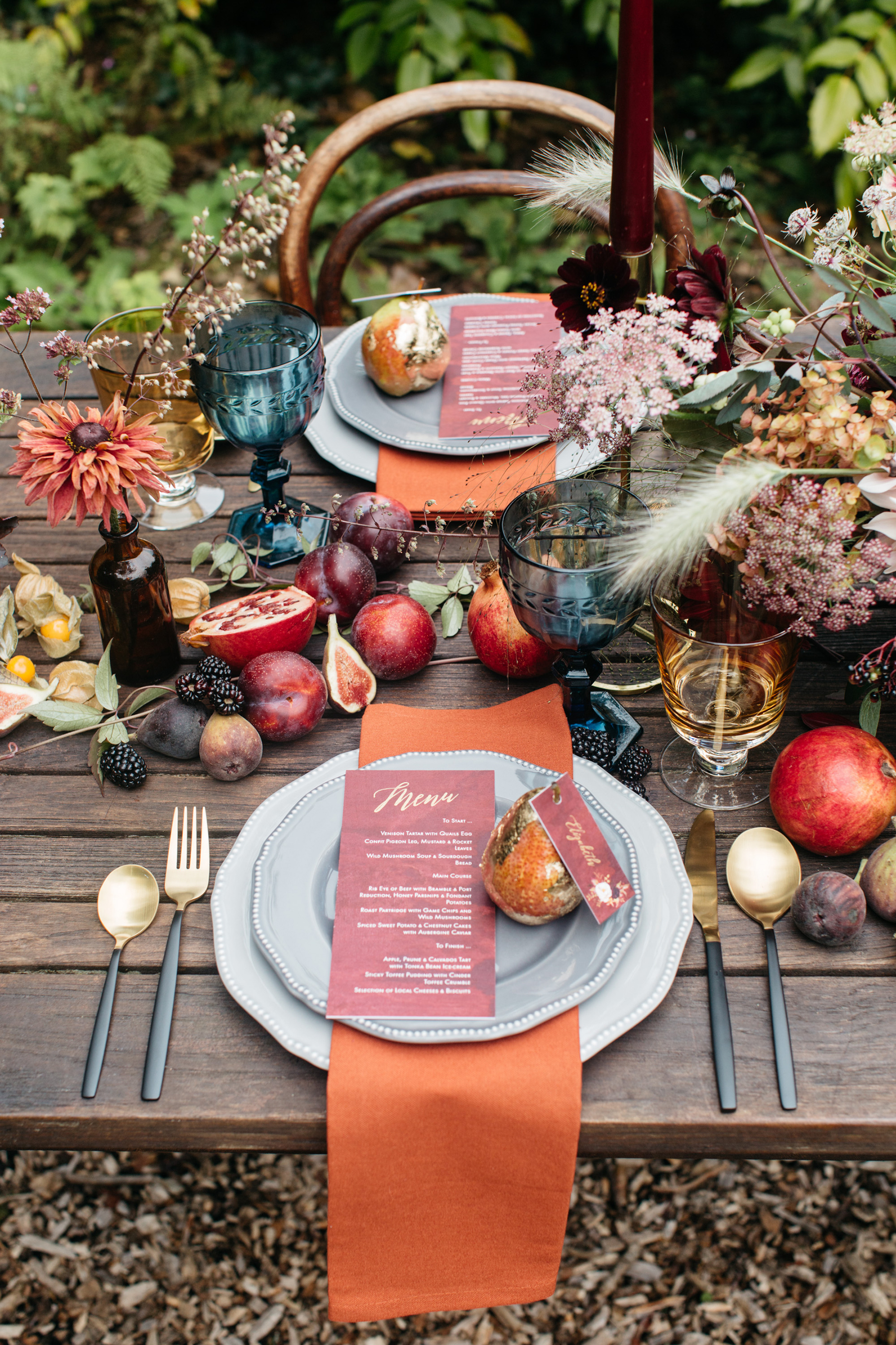 Fall table setting