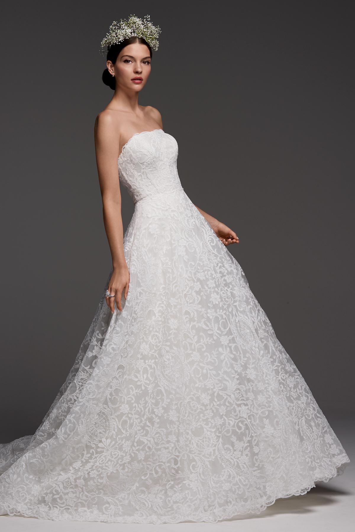 watters wedding dress fall 2018 a-line strapless