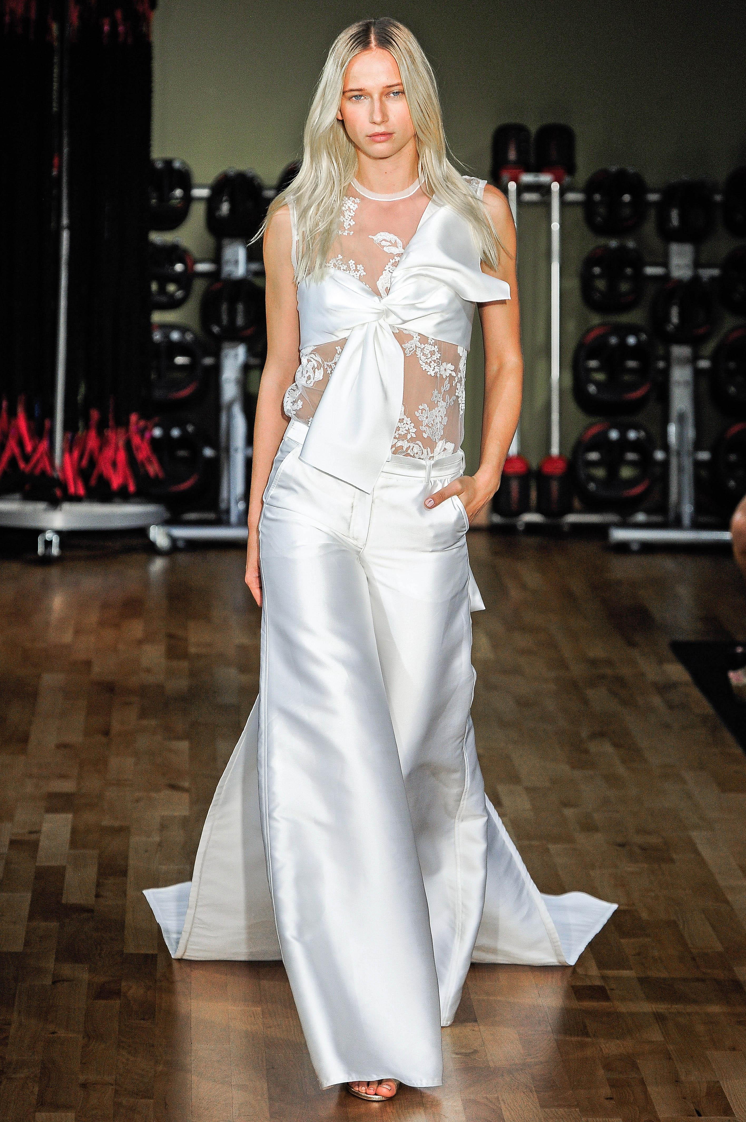 Rivini by Rita Vinieris Bow with Long Pants Wedding Dress Fall 2018