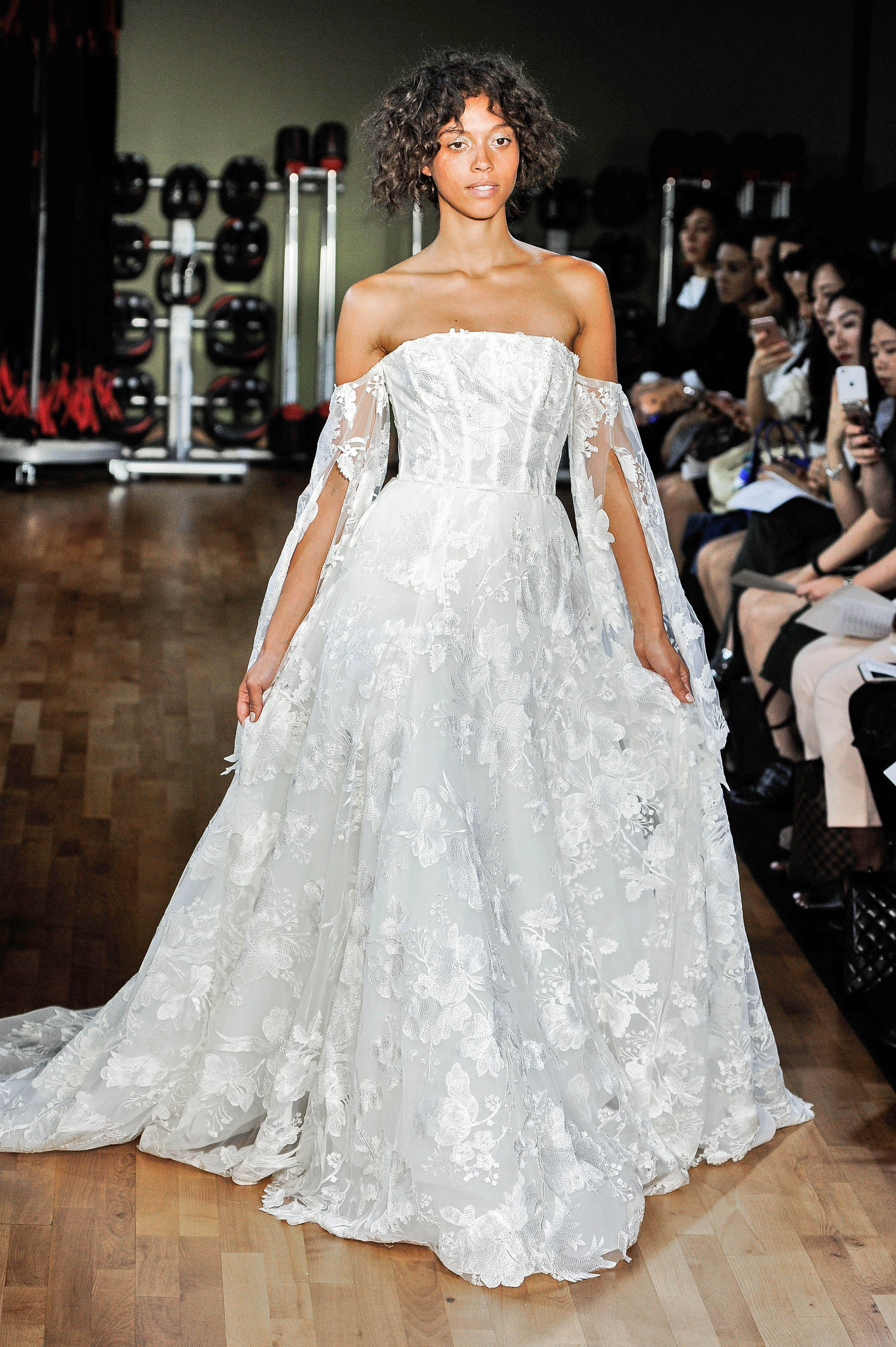 rivini by rita vinieris wedding dress fall 2018 lace off the shoulder a-line