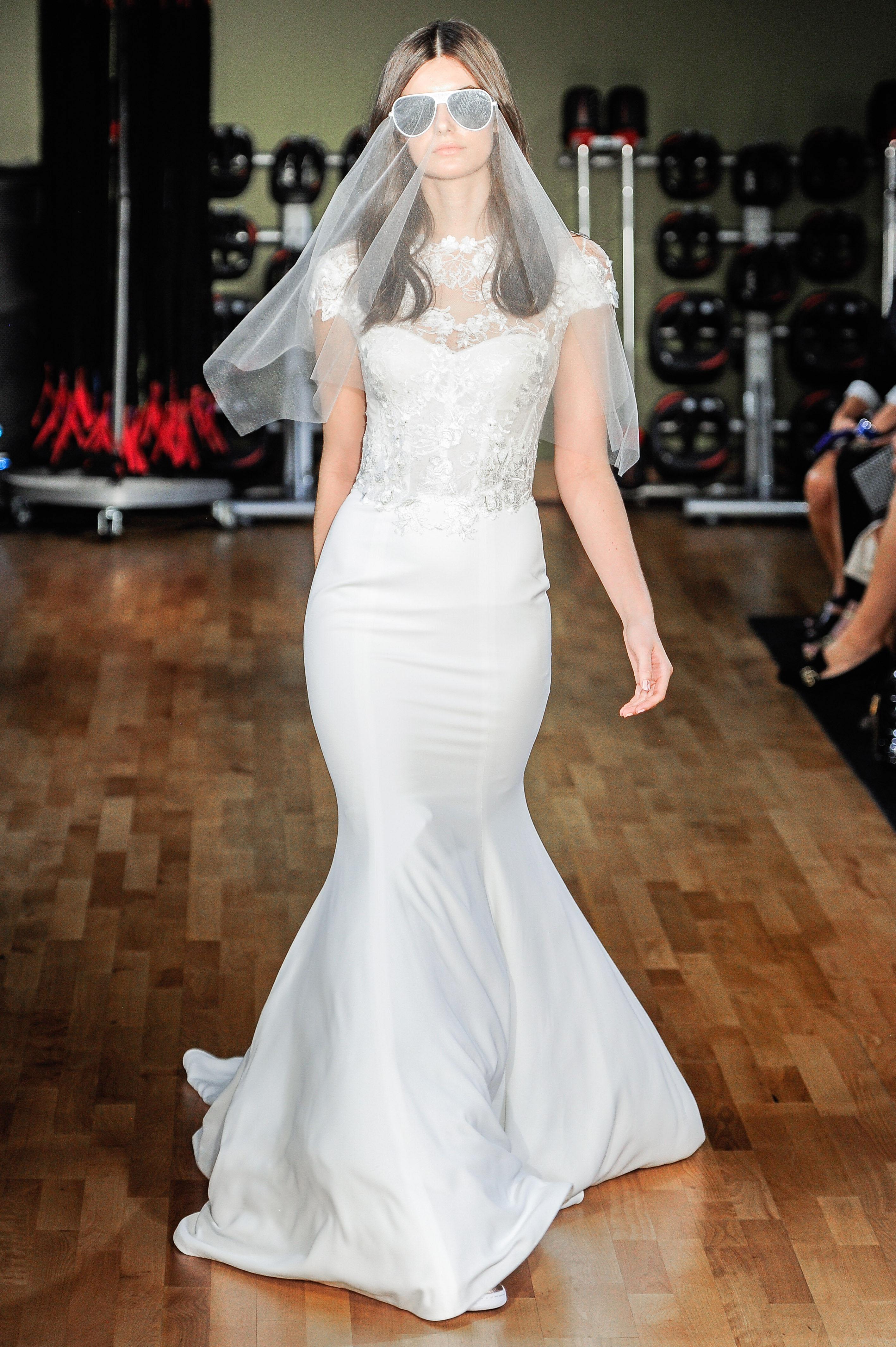 rivini by rita vinieris mermaid wedding dress with short sleeves fall 2018