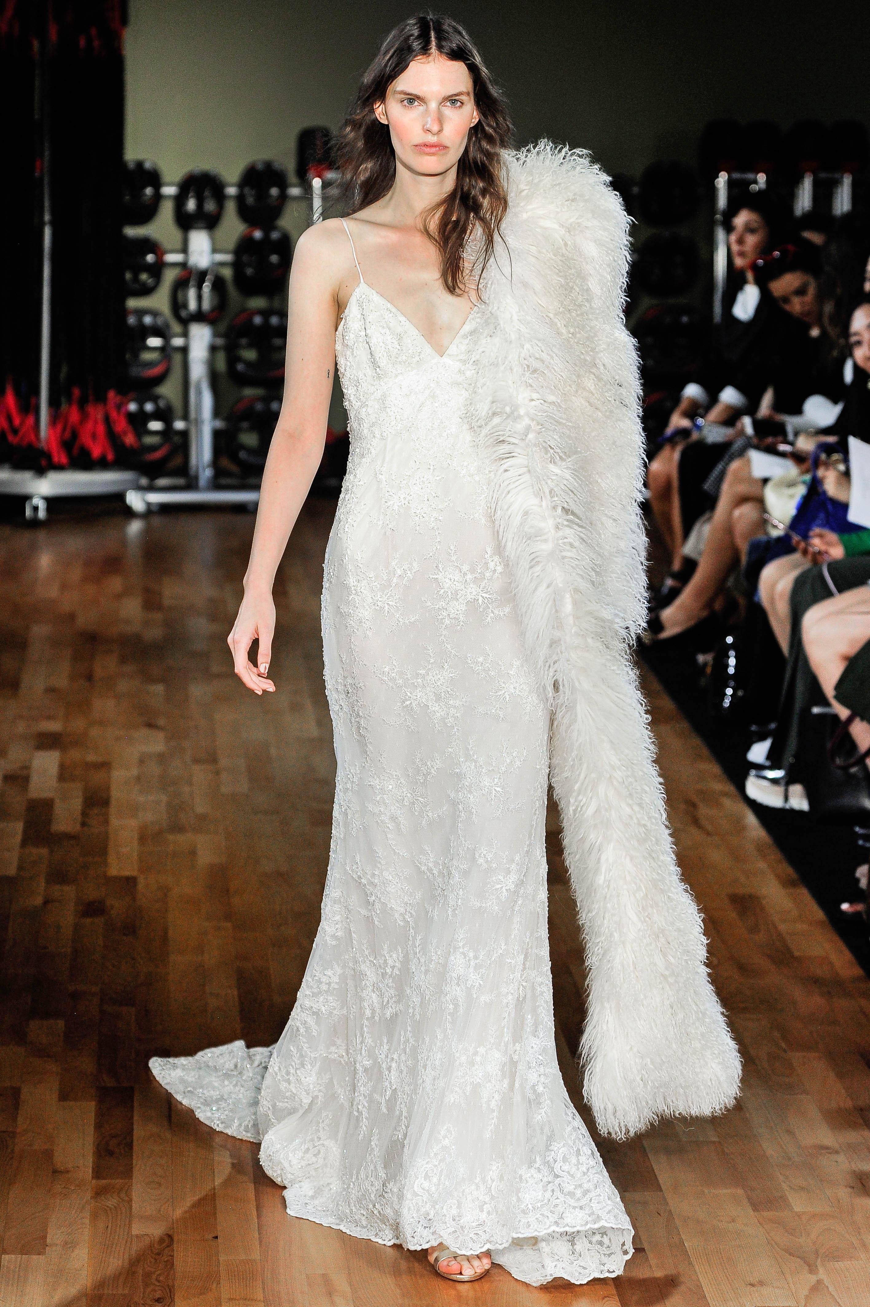 rivini by rita vinieris lace sheath wedding dress with spaghetti straps fall 2018