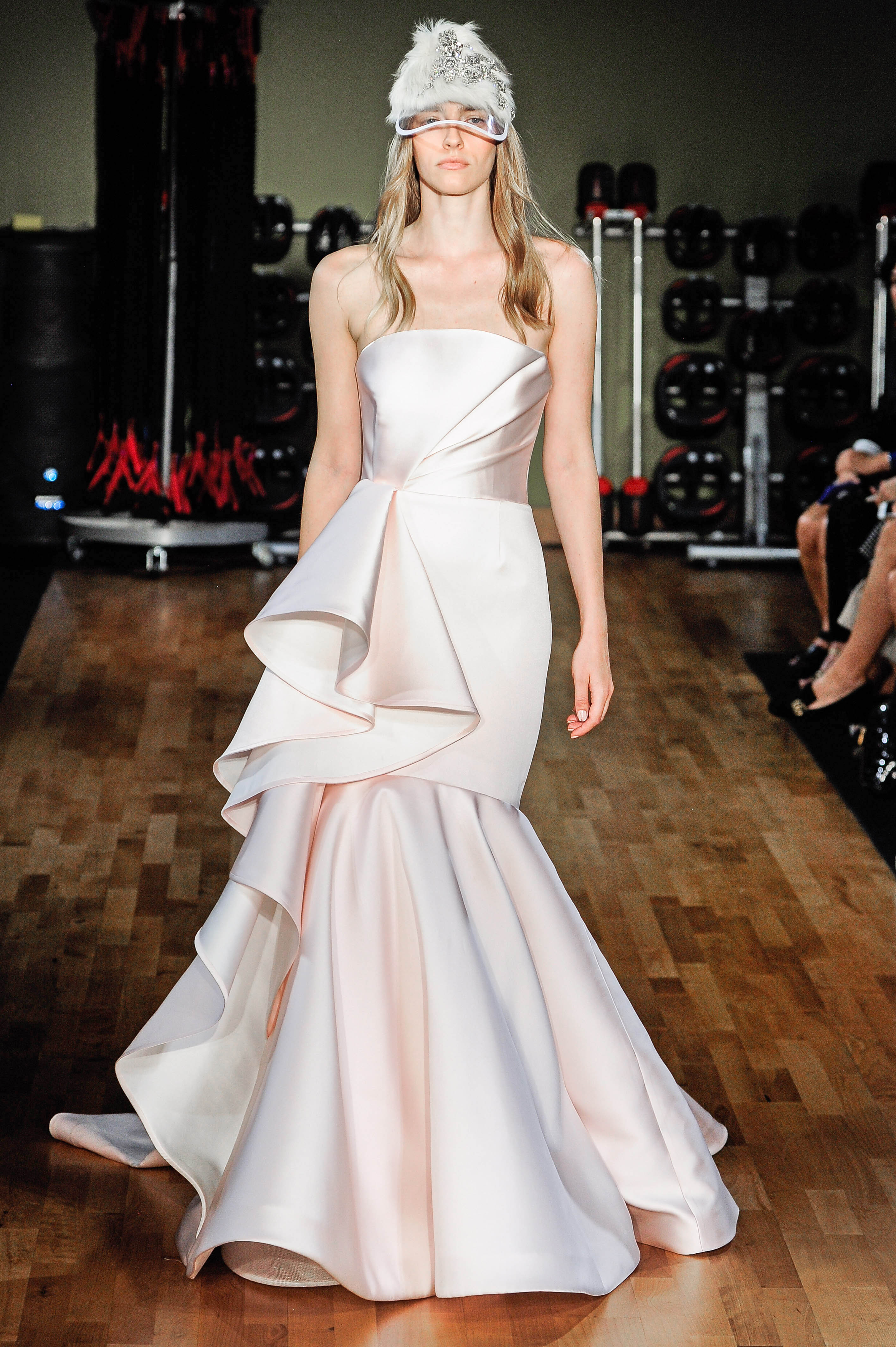 rivini by rita vinieris strapless blush mermaid wedding dress fall 2018