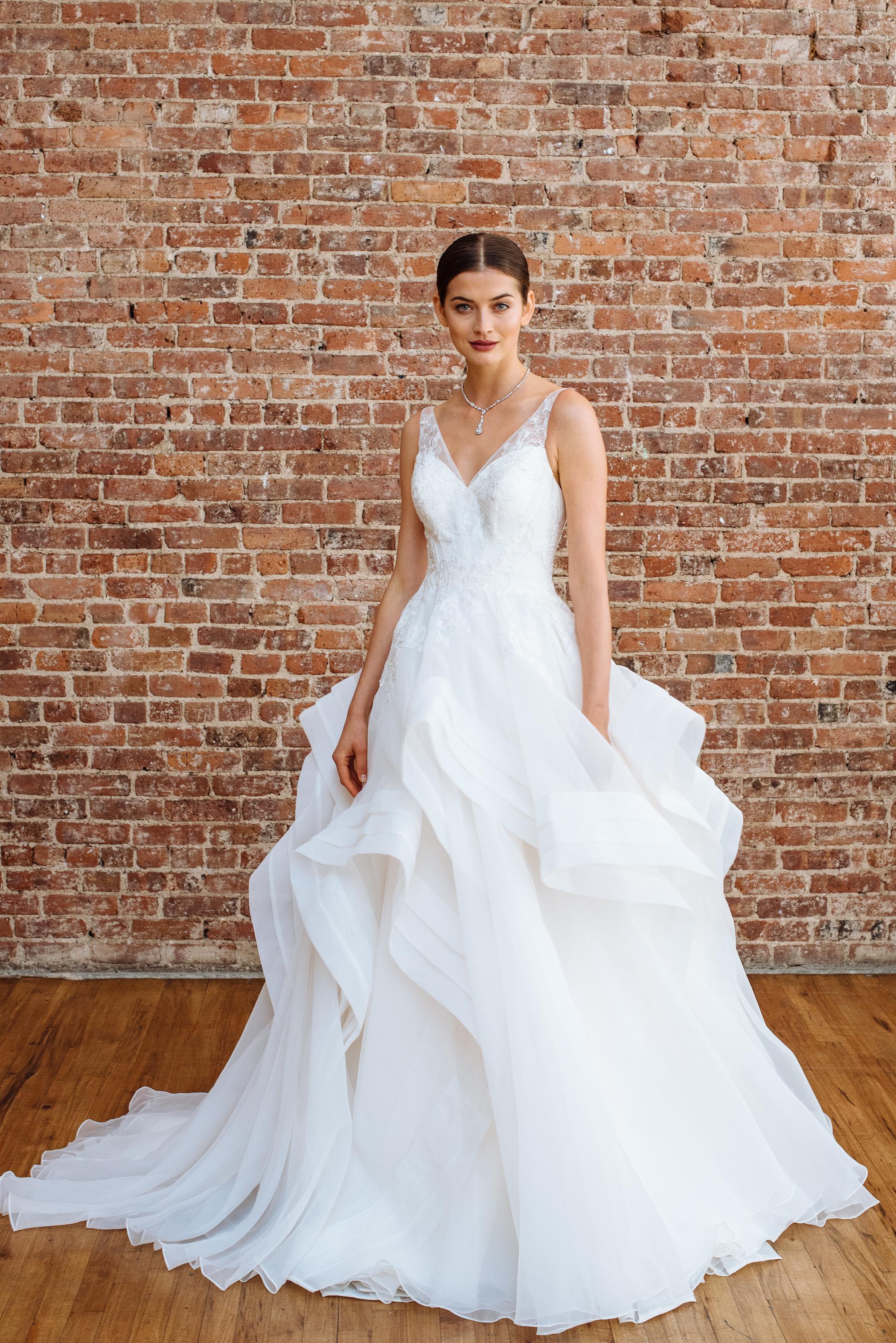 truly zac posen fall 2018 wedding dress