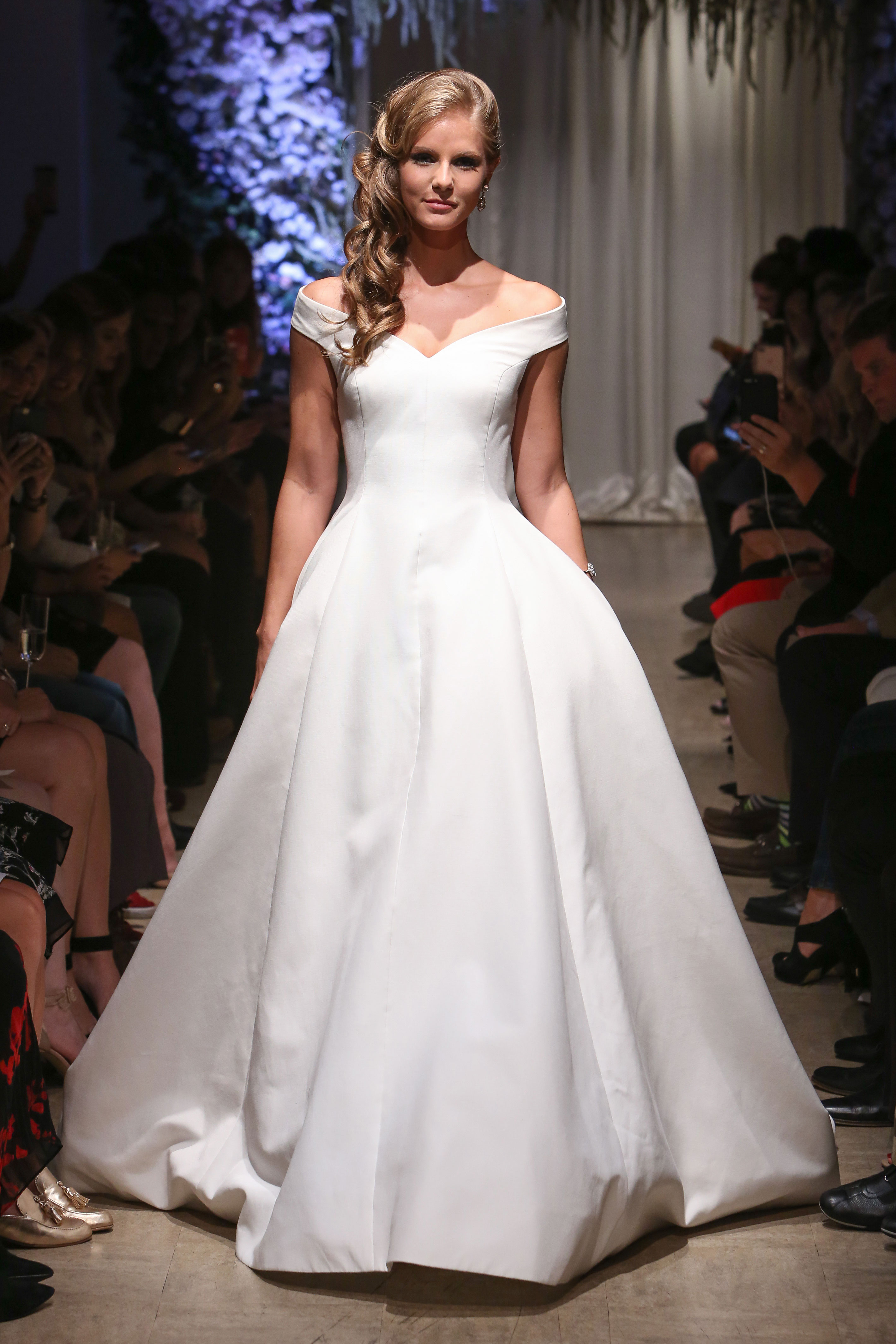 matthew christopher 2018 off shoulder wedding dress