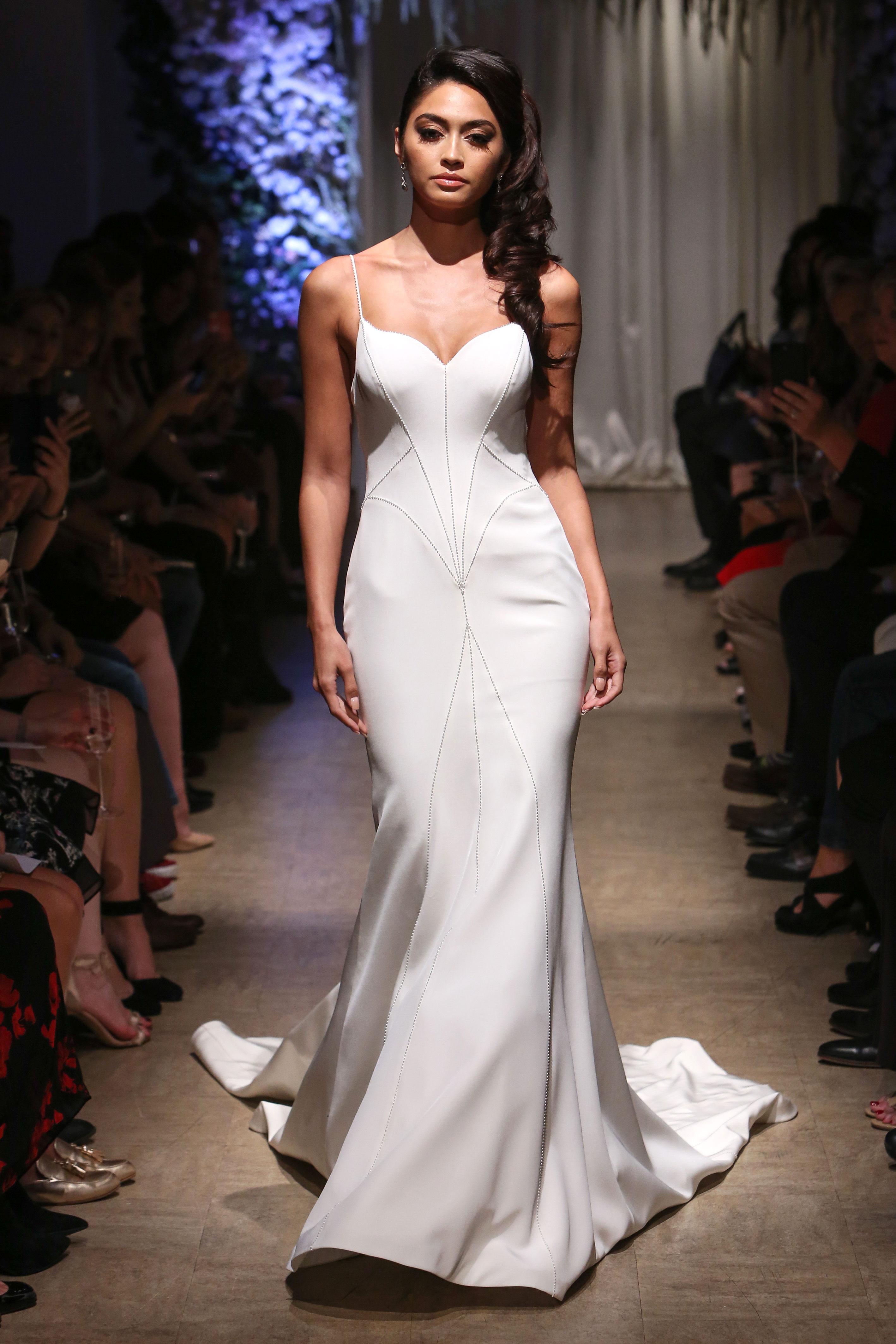matthew christopher 2018 sweetheart spaghetti strap wedding dress