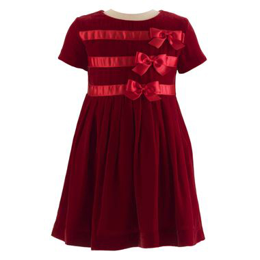 red bows flower girl dress