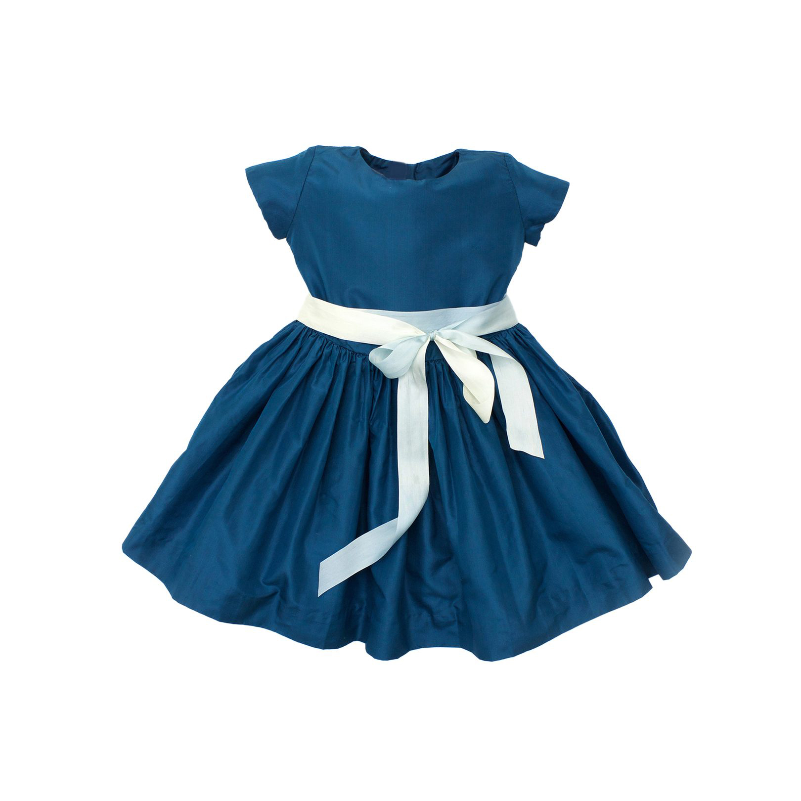 flower girl dress dark blue