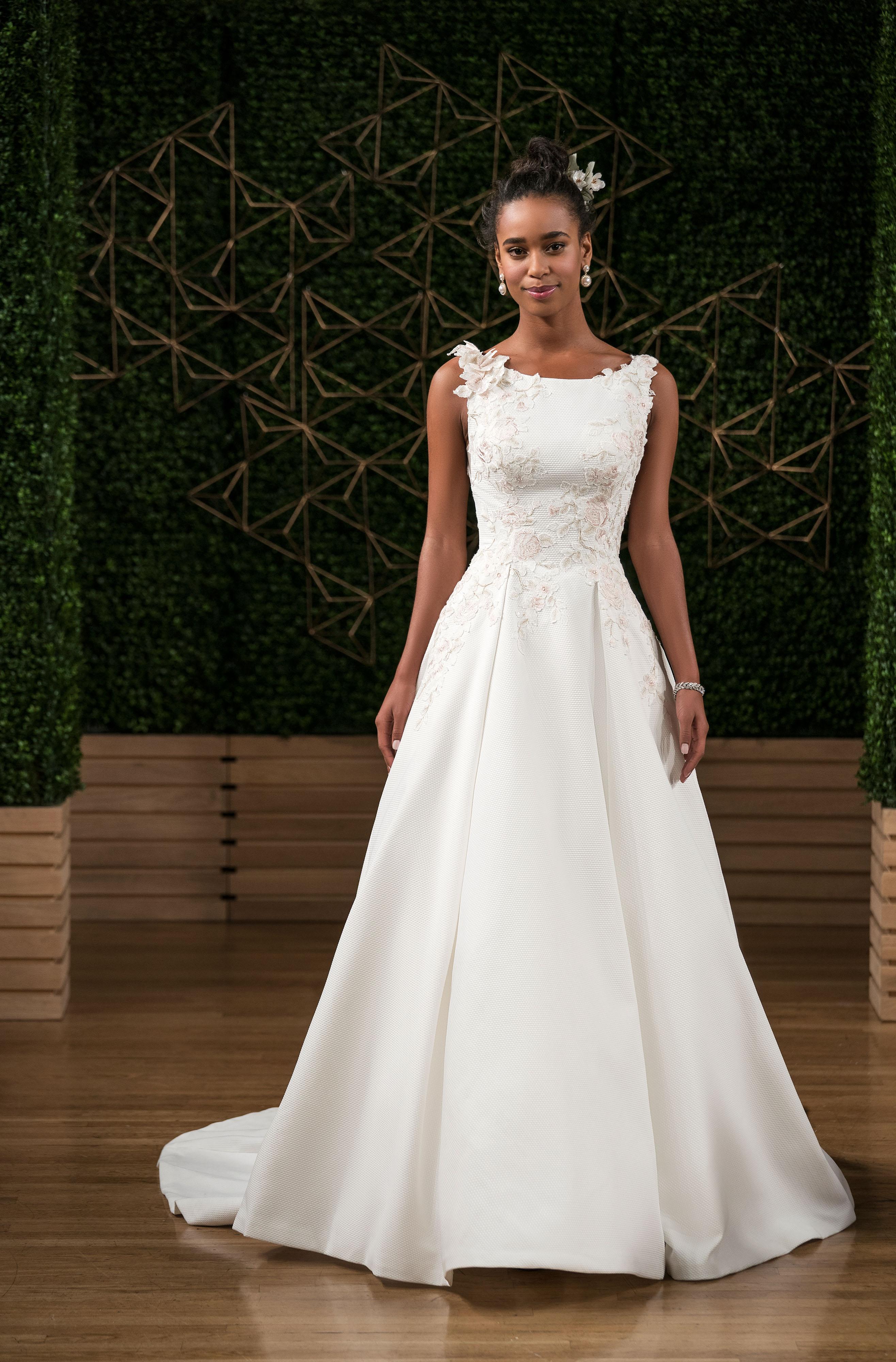 maggie sottero wedding dress fall 2018 boatneck embellished sleeveless