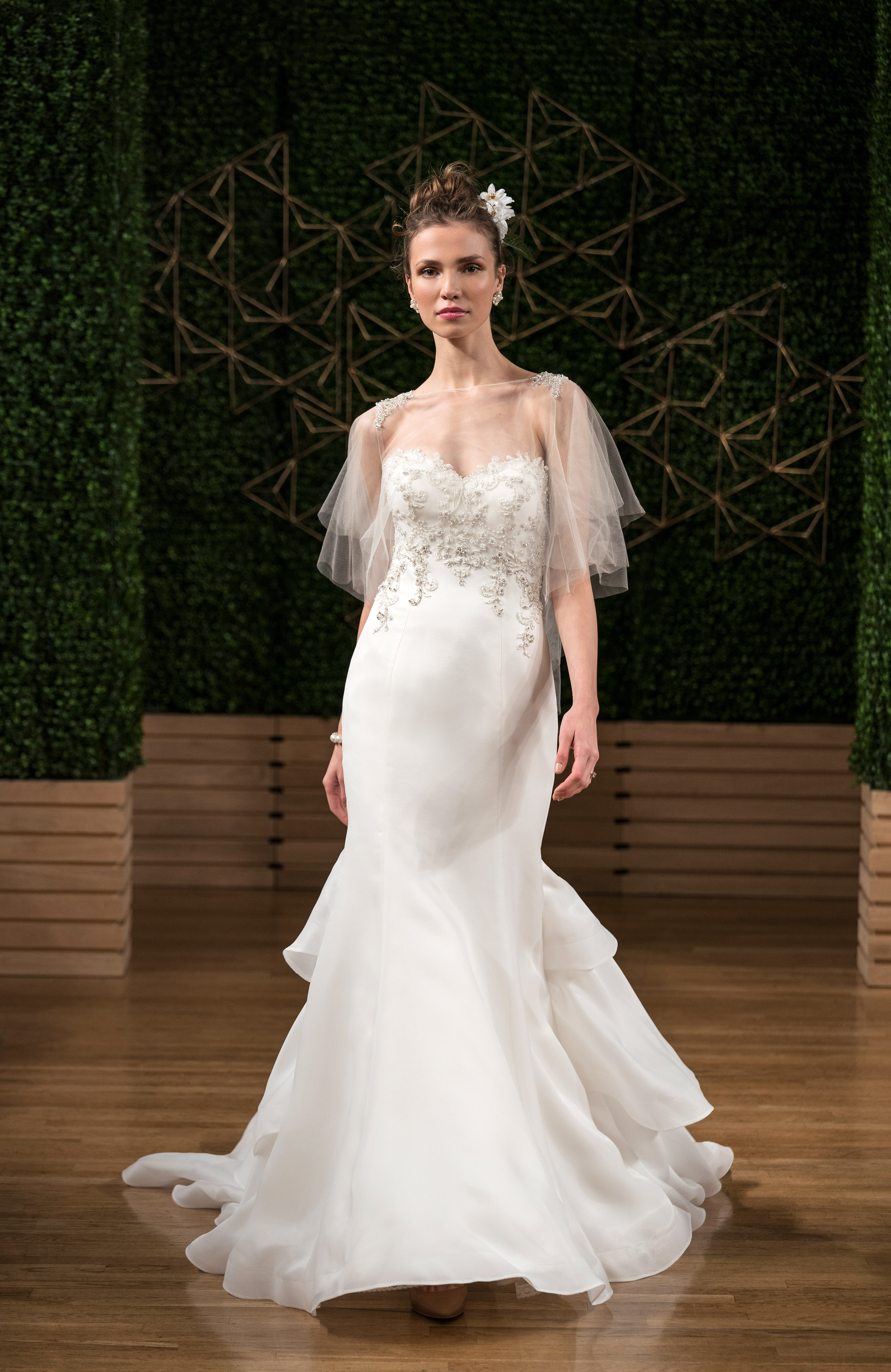 maggie sottero wedding dress fall 2018 strapless embellished trumpet train