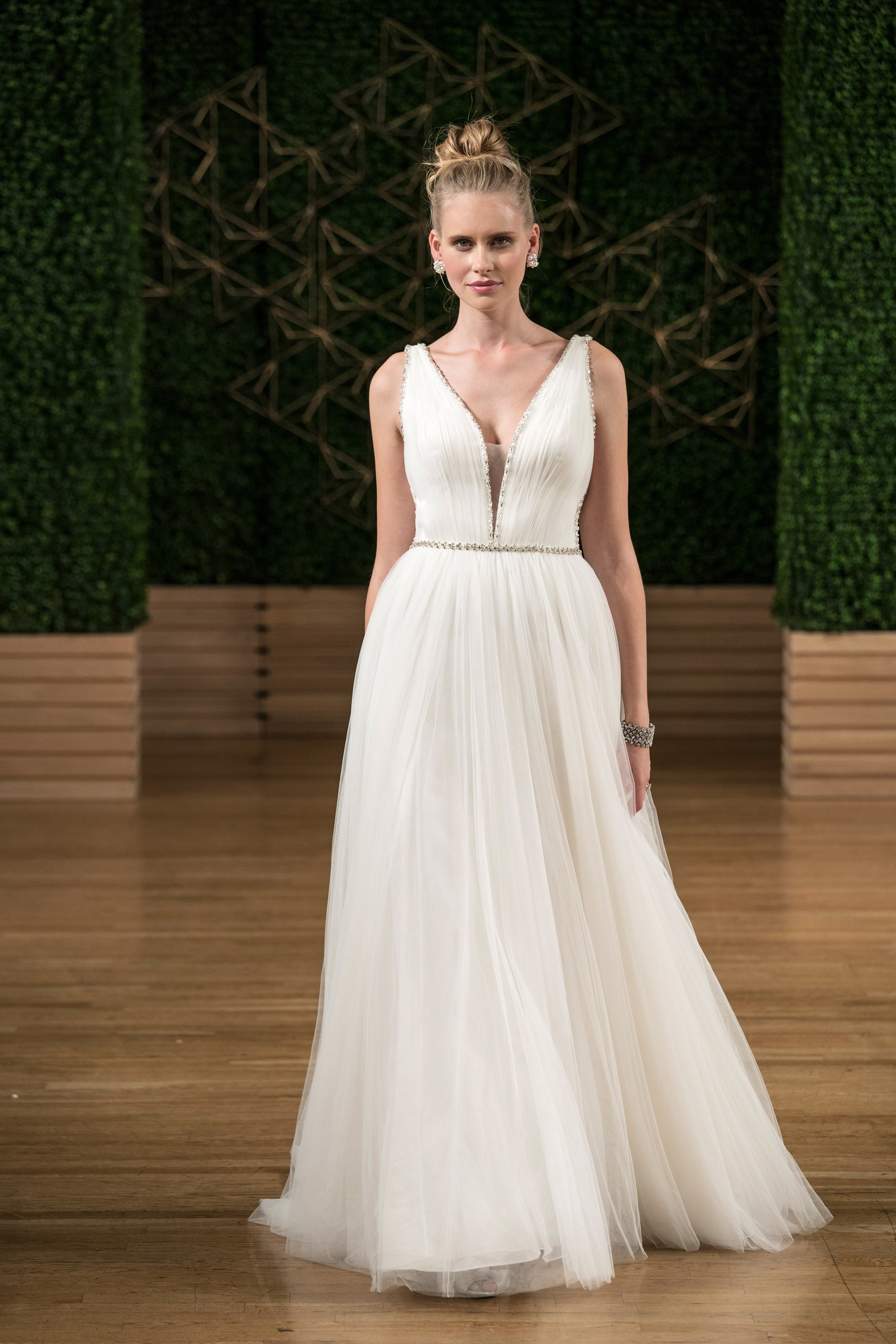 maggie sottero wedding dress fall 2018 tulle v neck a-line