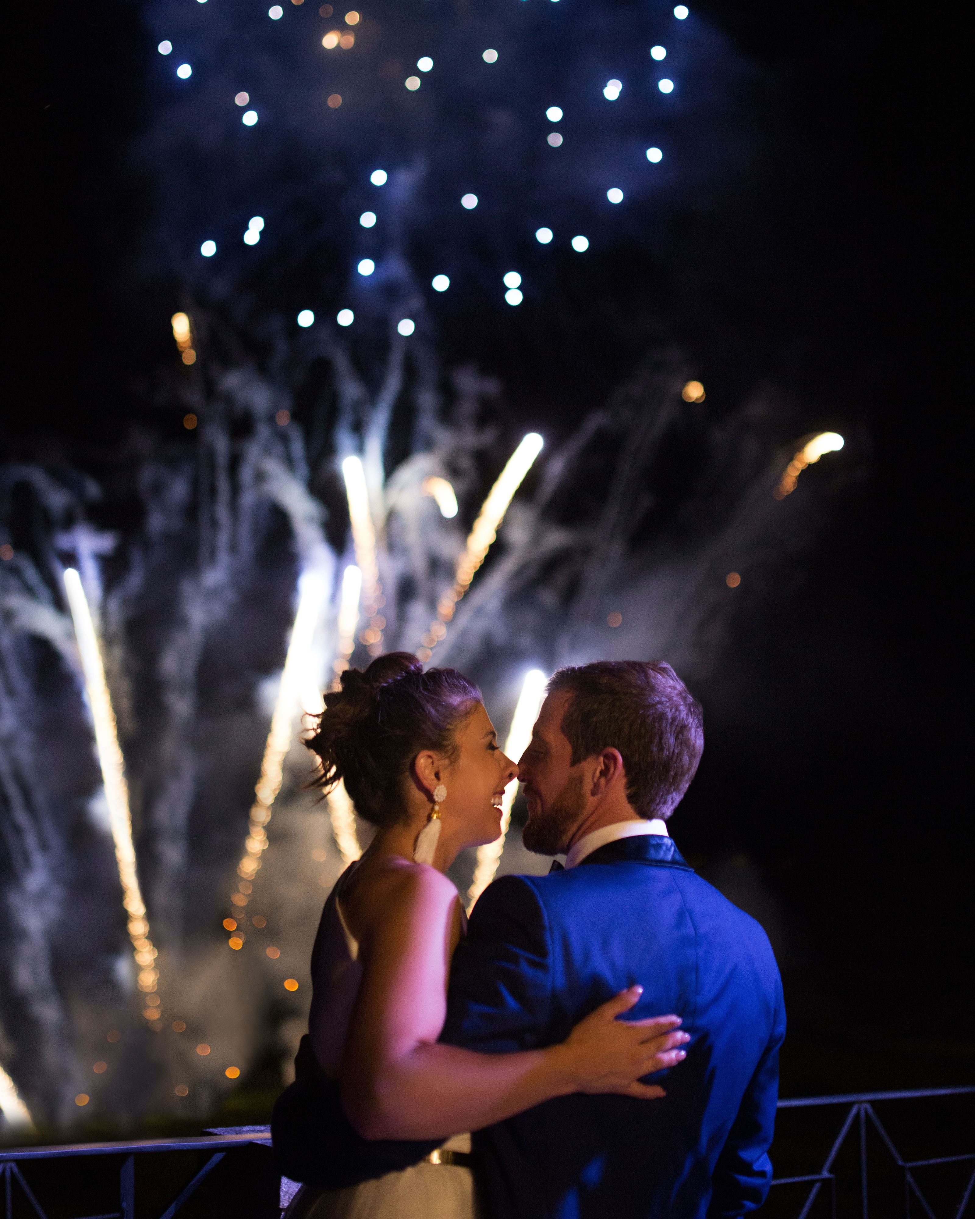 jeannette taylor wedding portugal fireworks
