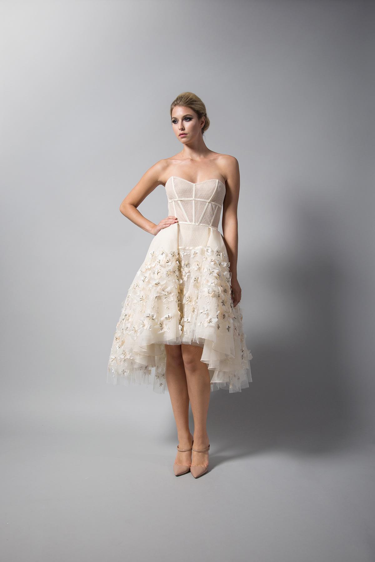 randi rahm nude short wedding dress fall 2018