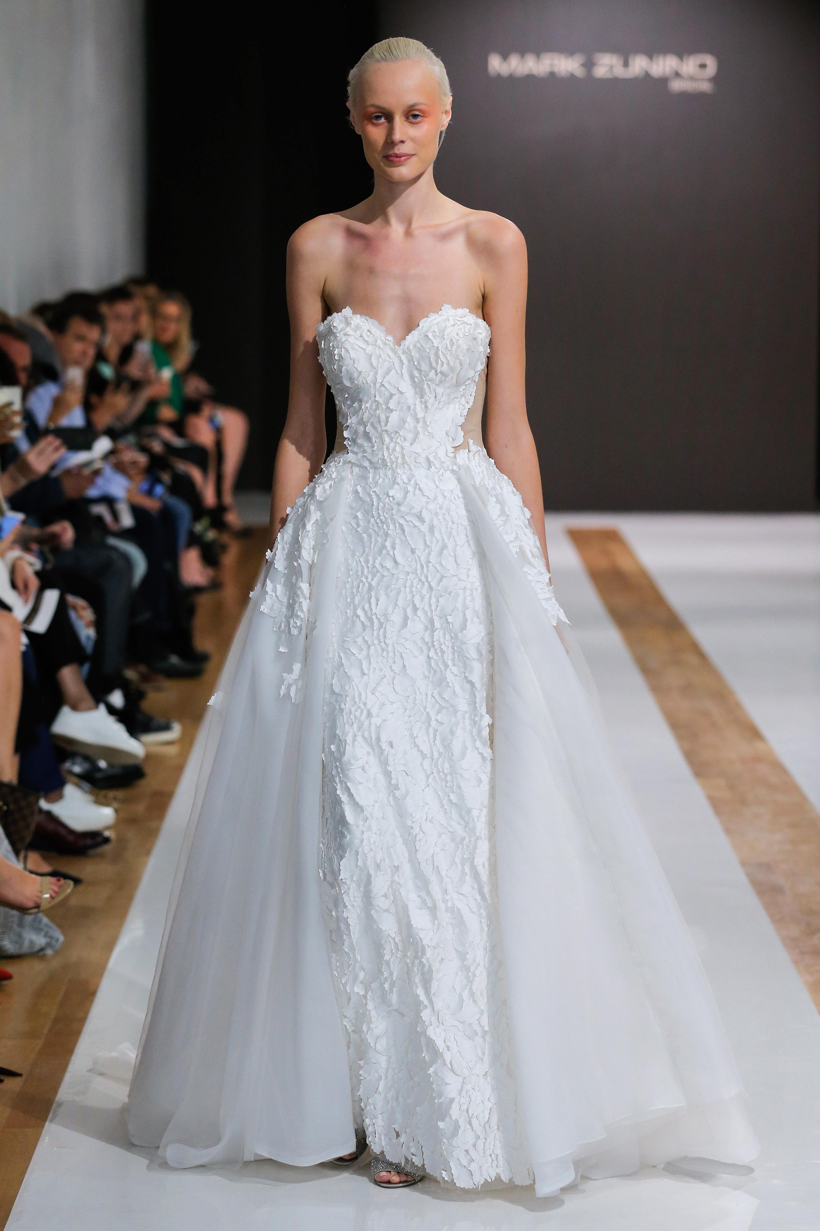 mark zunino wedding dress fall 2018 sweetheart lace a-line