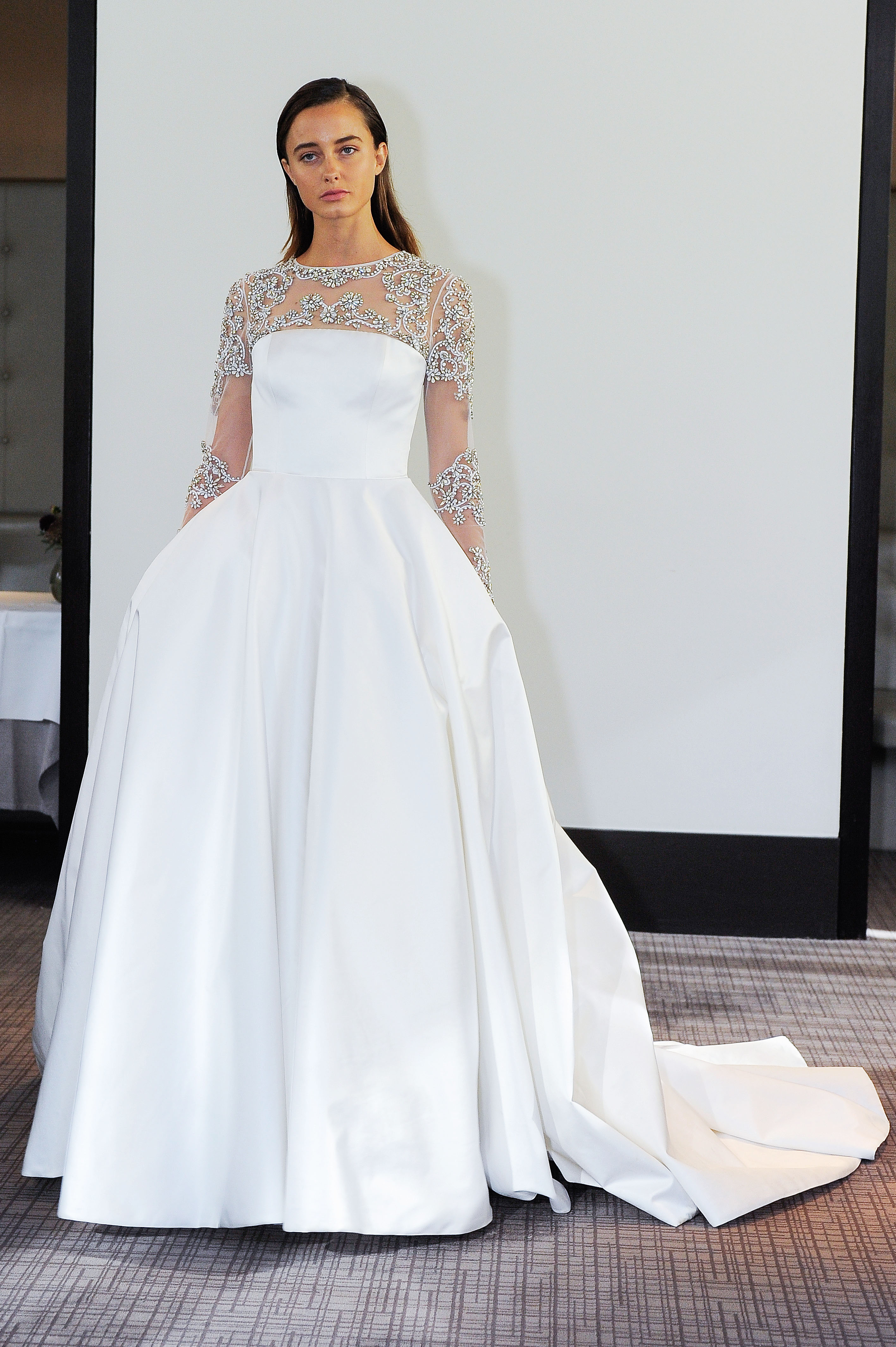 gracy accad embellished ball gown wedding dress fall 2018