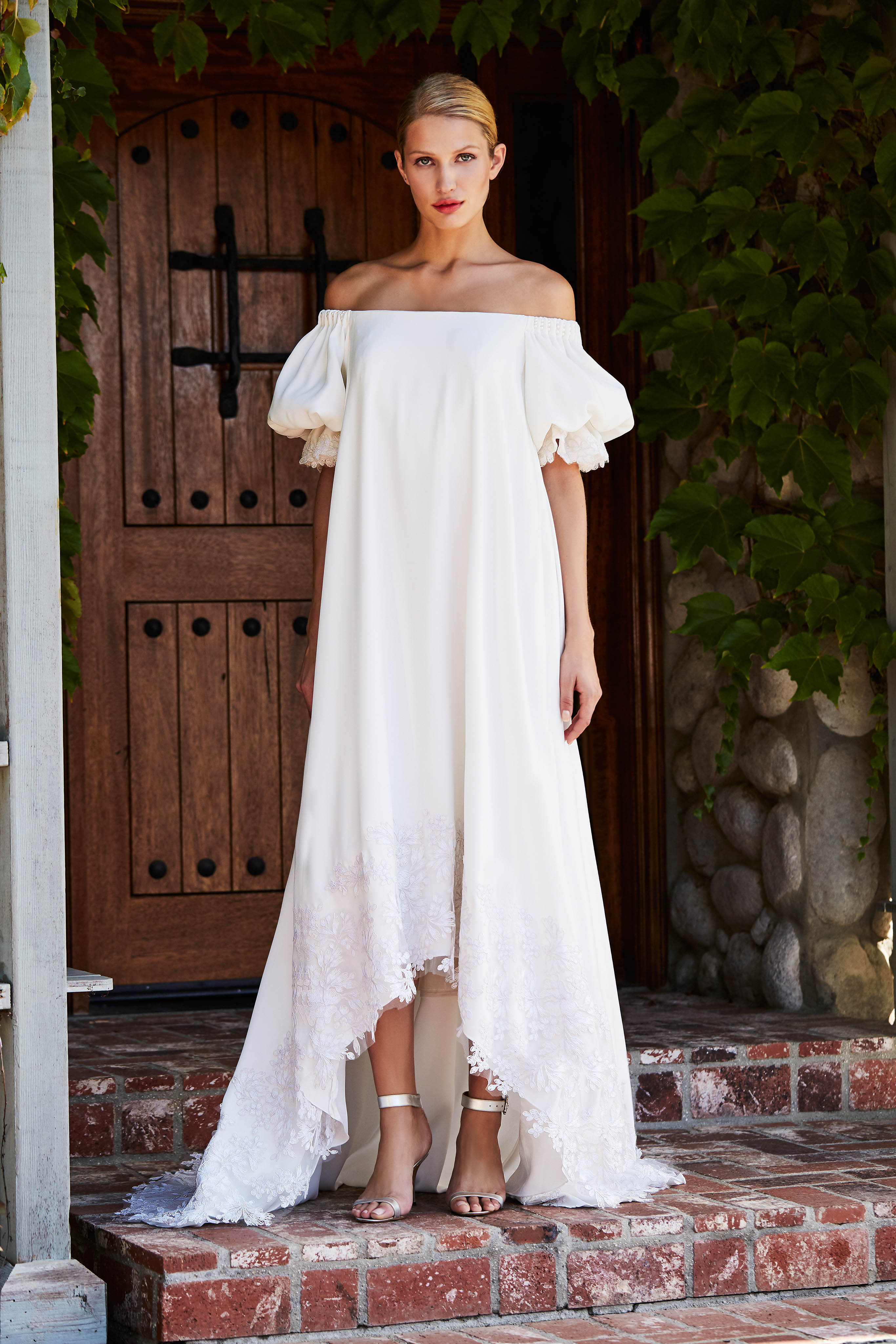 tadashi shoji wedding dress fall 2018 off the shoulder