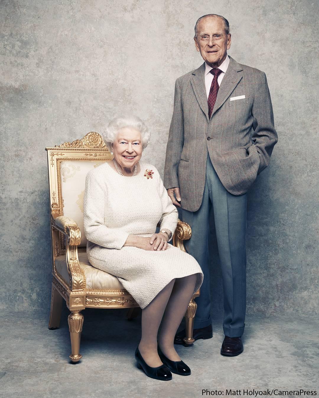 Queen Elizabeth and Prince Philip 70th Anniversary Portrait