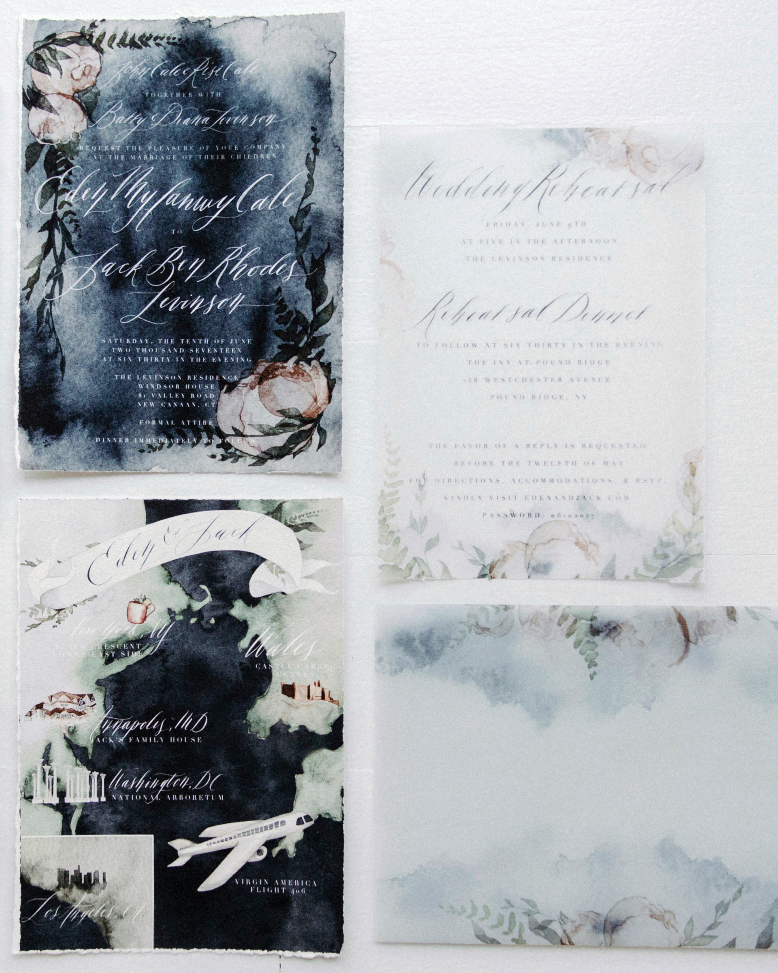 eden jack wedding stationery