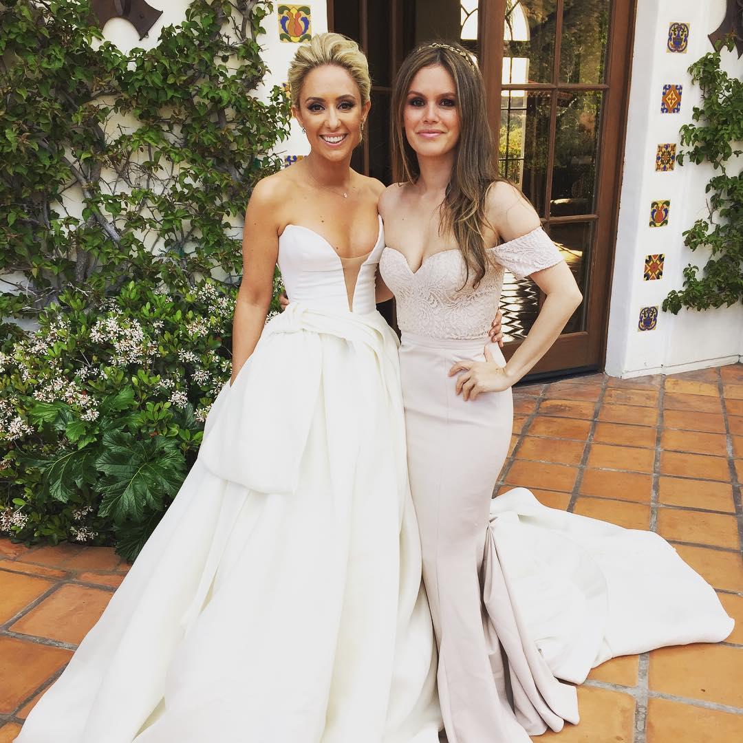 Rachel Bilson Bridesmaid in Pink Gown