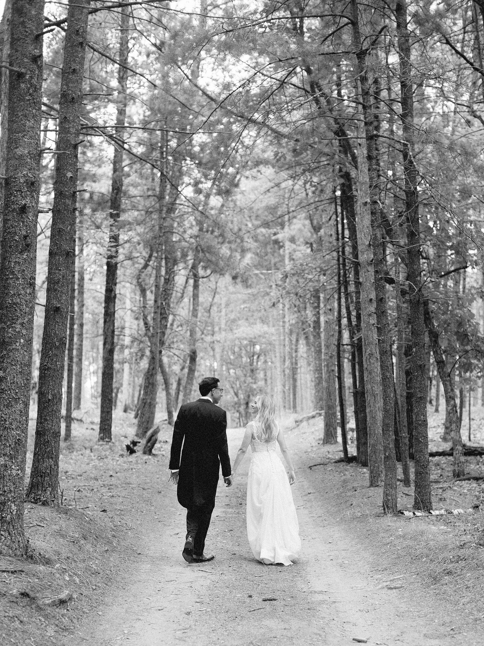 adele seth wedding michigan couple walking path