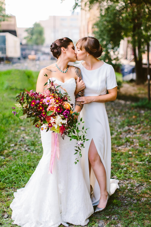 Deb & Meryl's wedding kiss