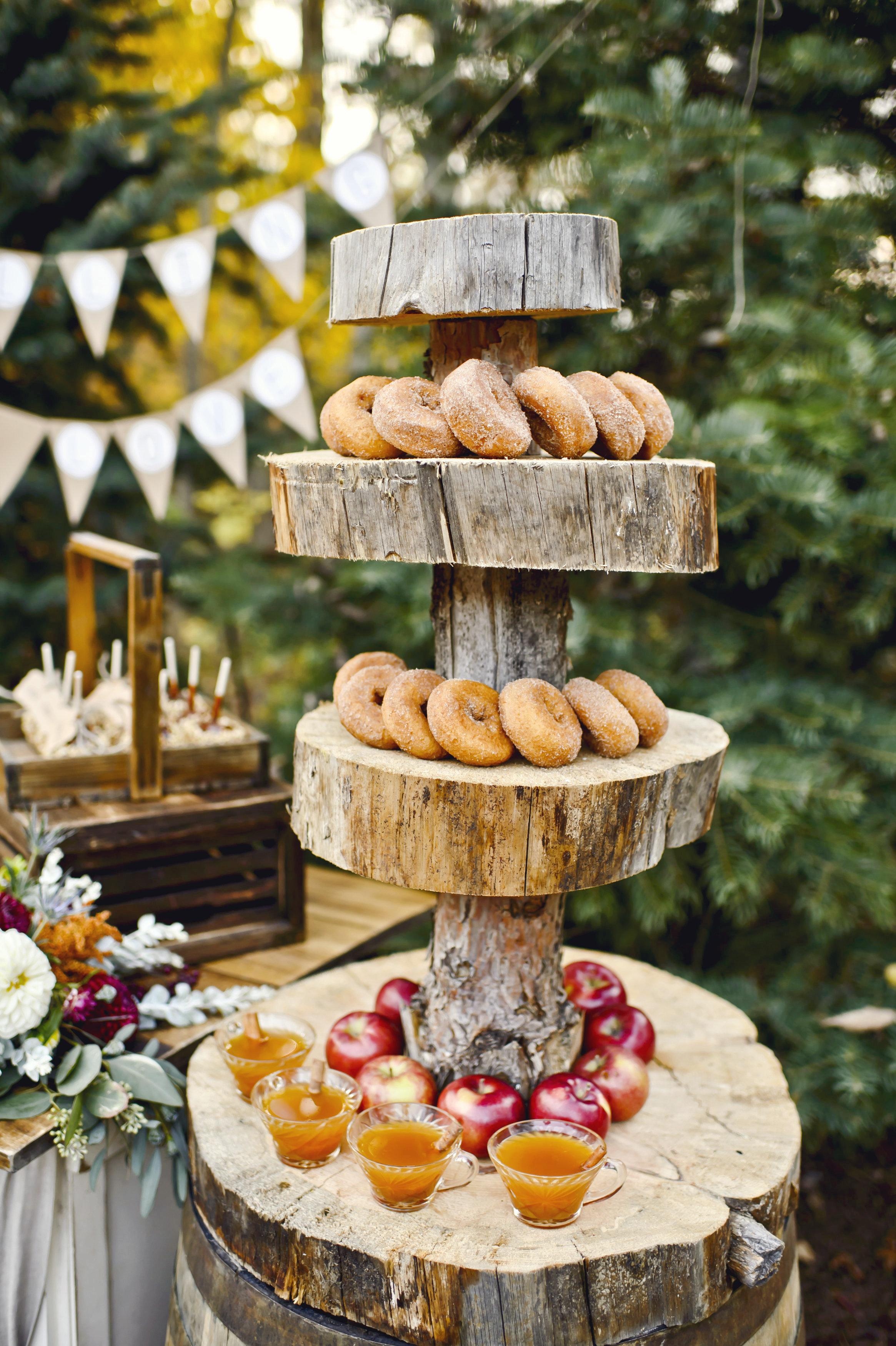 cider and doughnut station