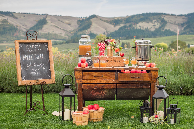 apple cider station