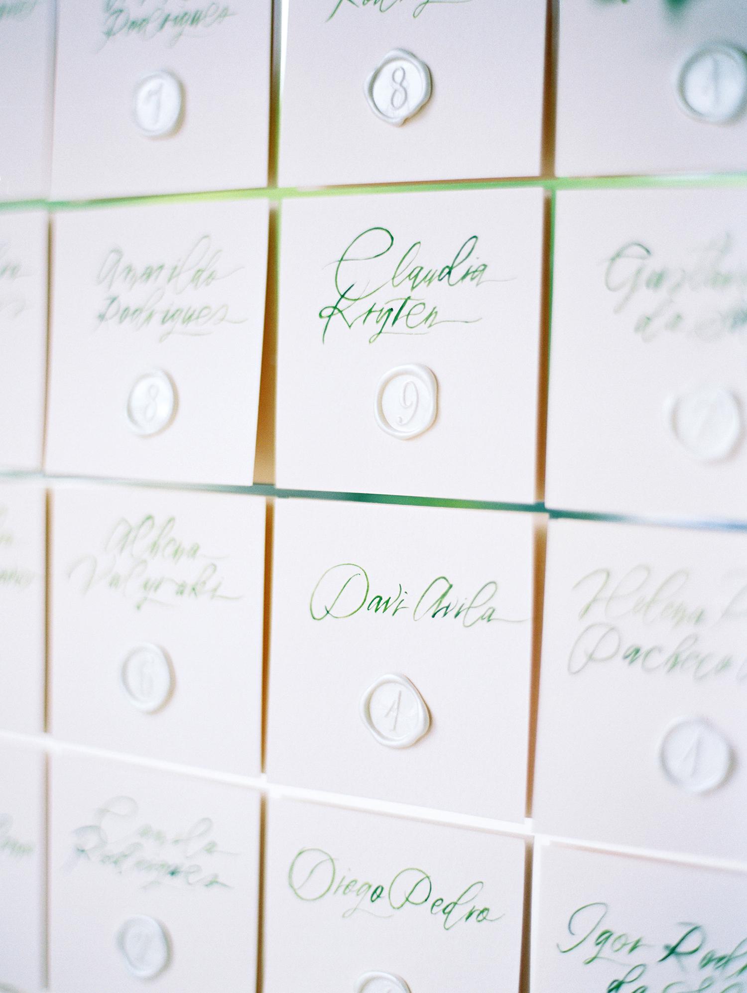 amanda alex wedding escort cards
