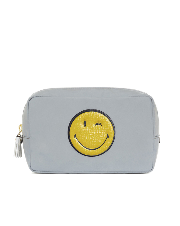 anya hindmarch pouch with smiley face