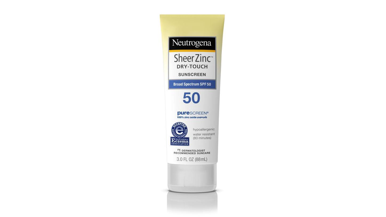 neutrogena sheerzinc dry-touch sunscreen