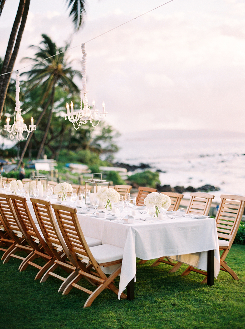 beach wedding table