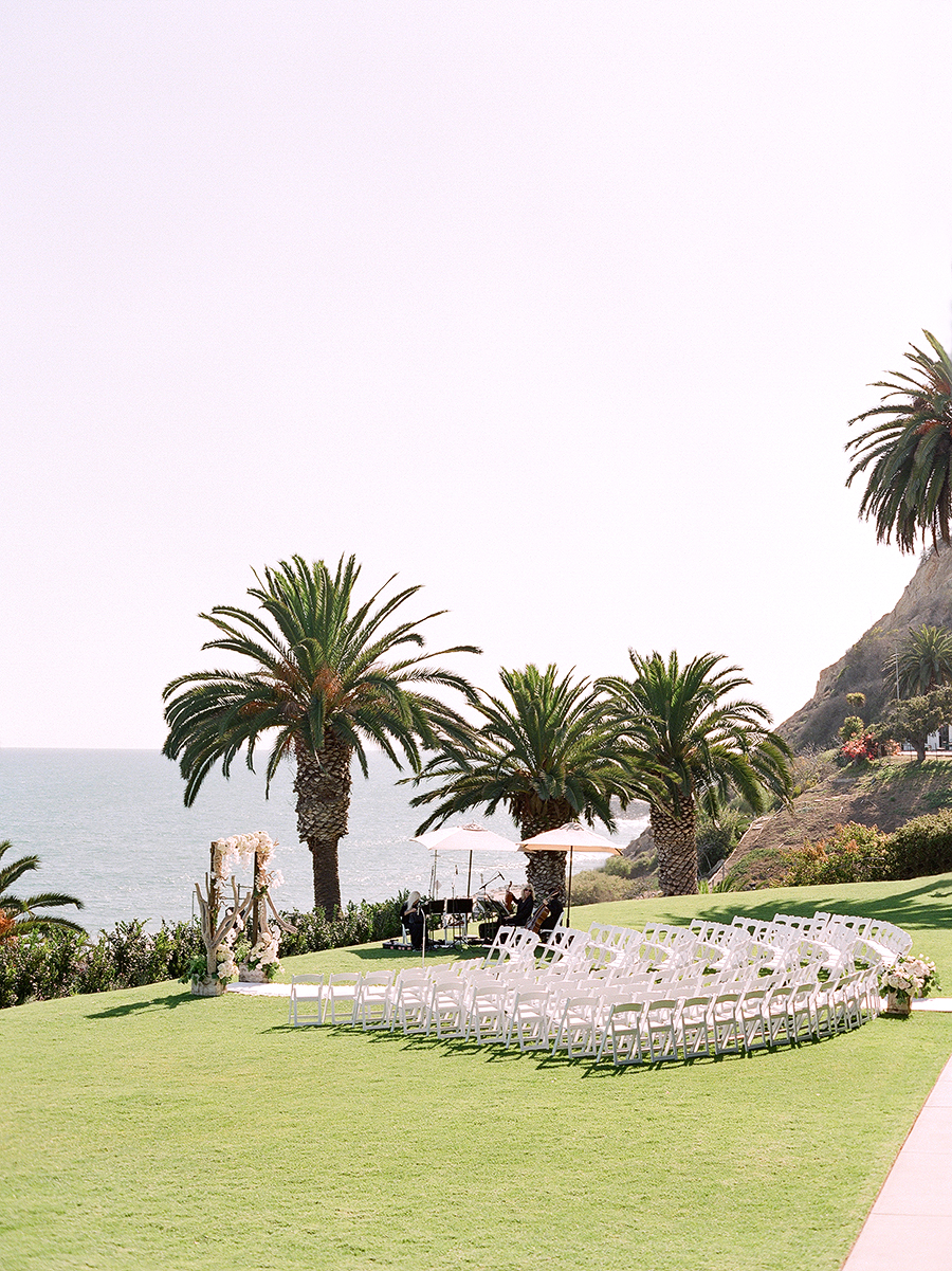 beach wedding site