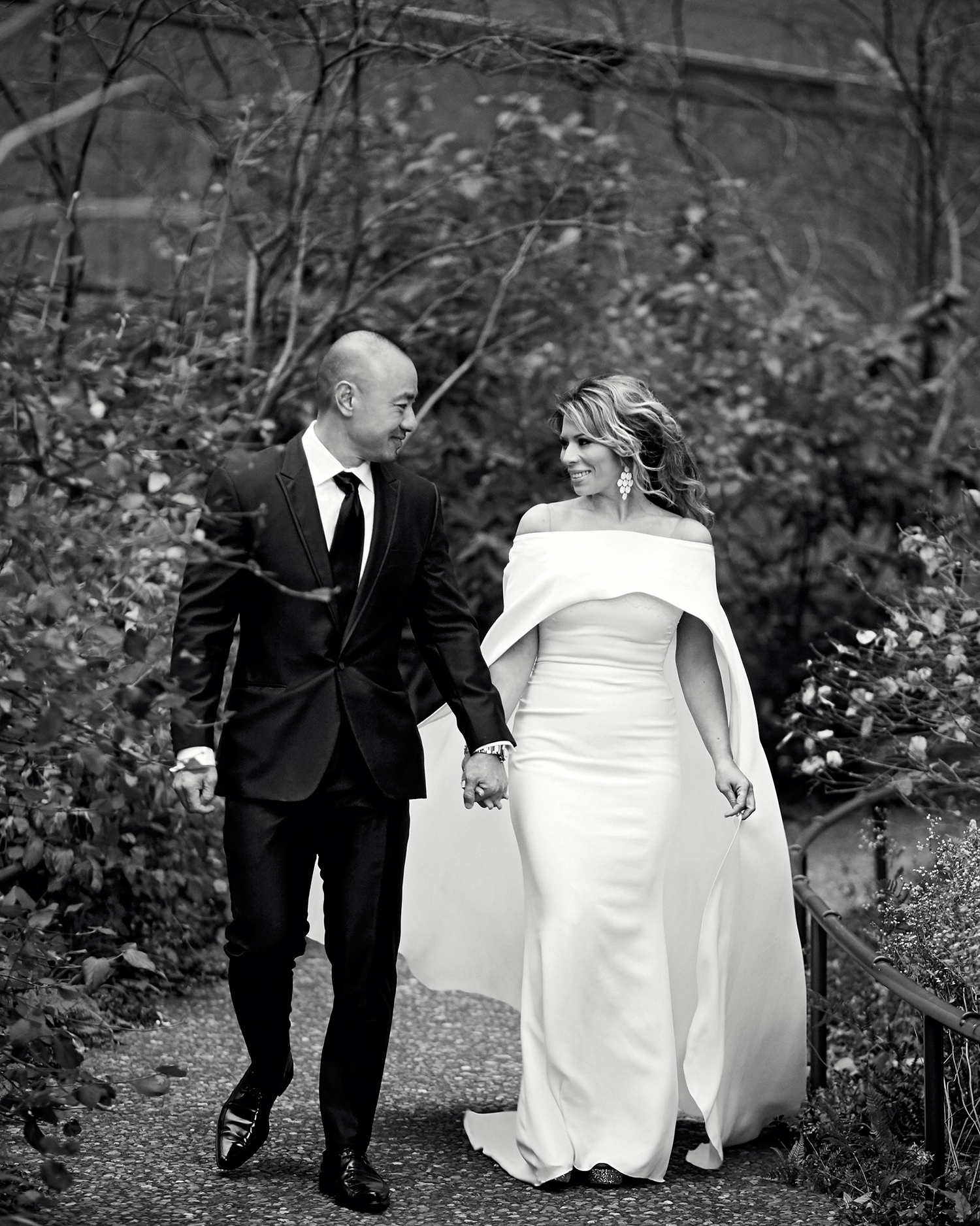 daisy eugene wedding black-and-white portrait