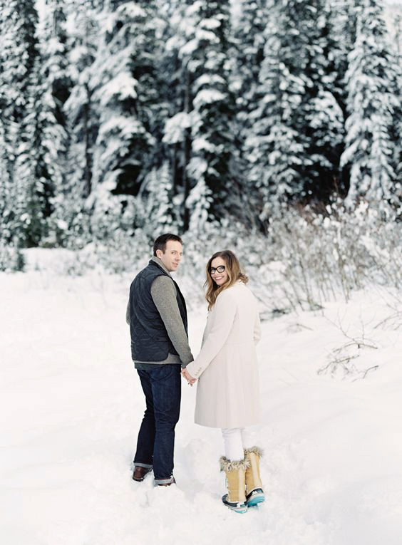 couple in snow